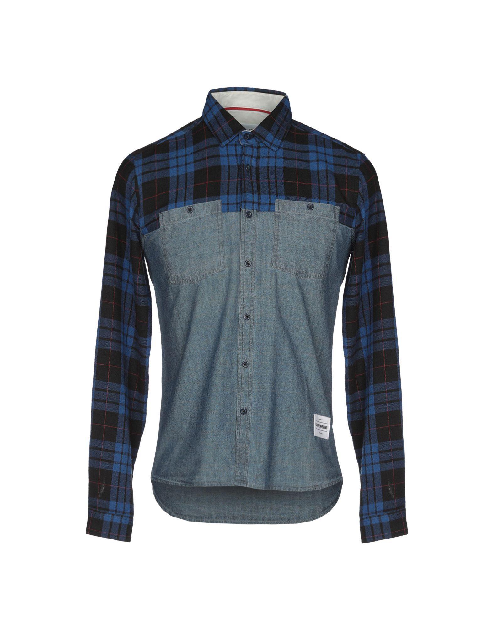 20b8110f3d Supremebeing - Blue Denim Shirt for Men - Lyst. View fullscreen