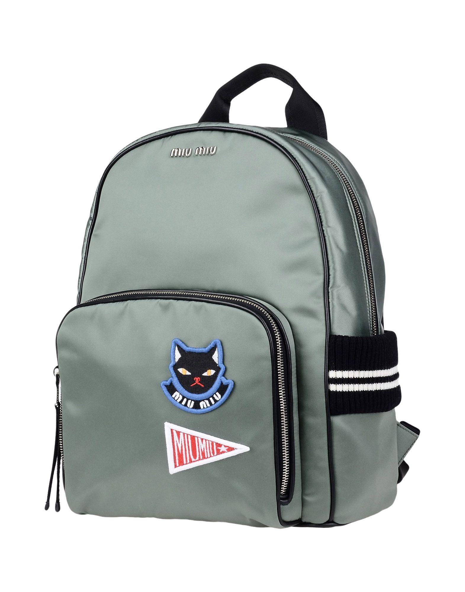 Lyst - Miu Miu Backpacks   Bum Bags in Green eb25e67f812f9