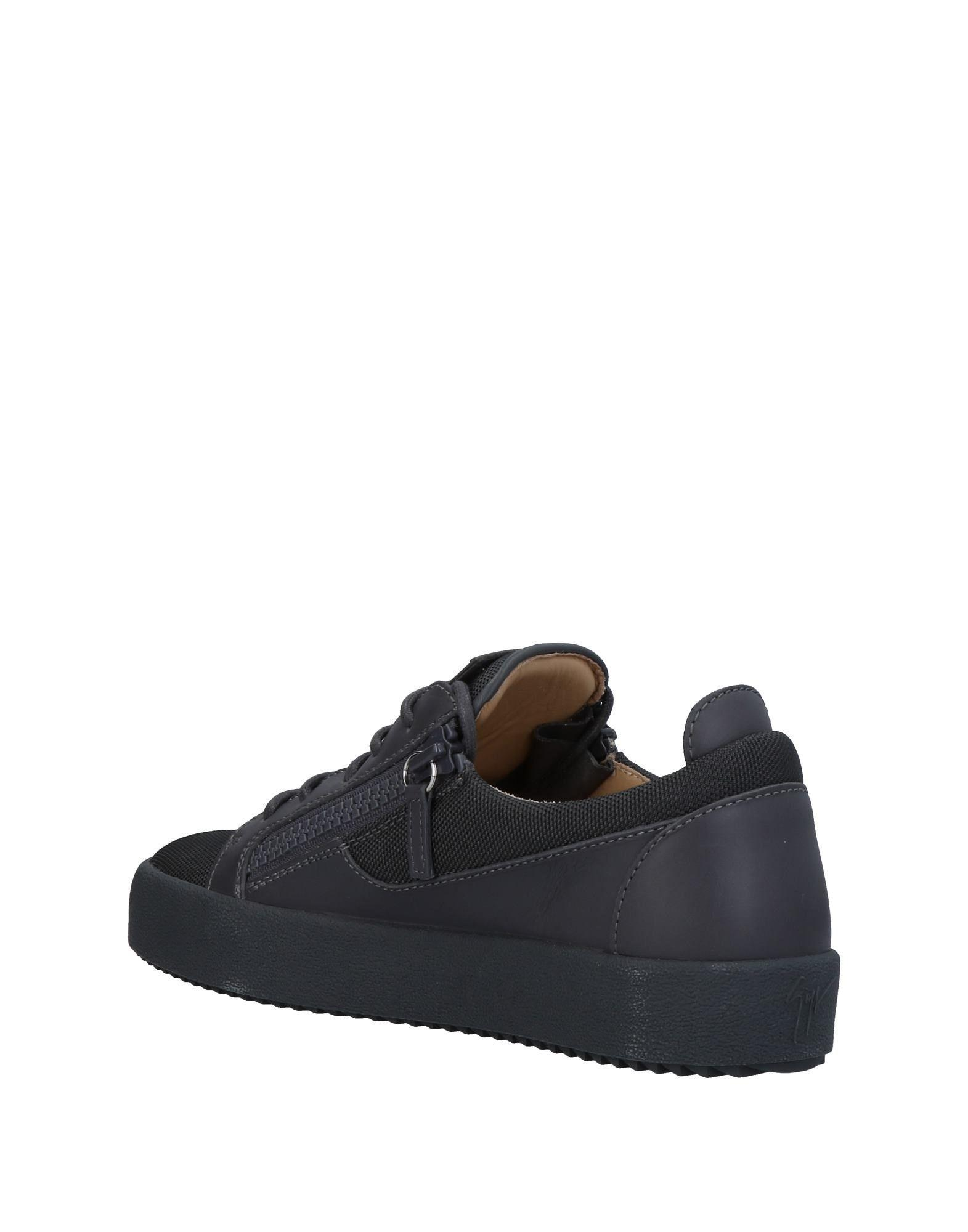 Giuseppe Zanotti Leather Low-tops & Sneakers in Grey (Grey) for Men