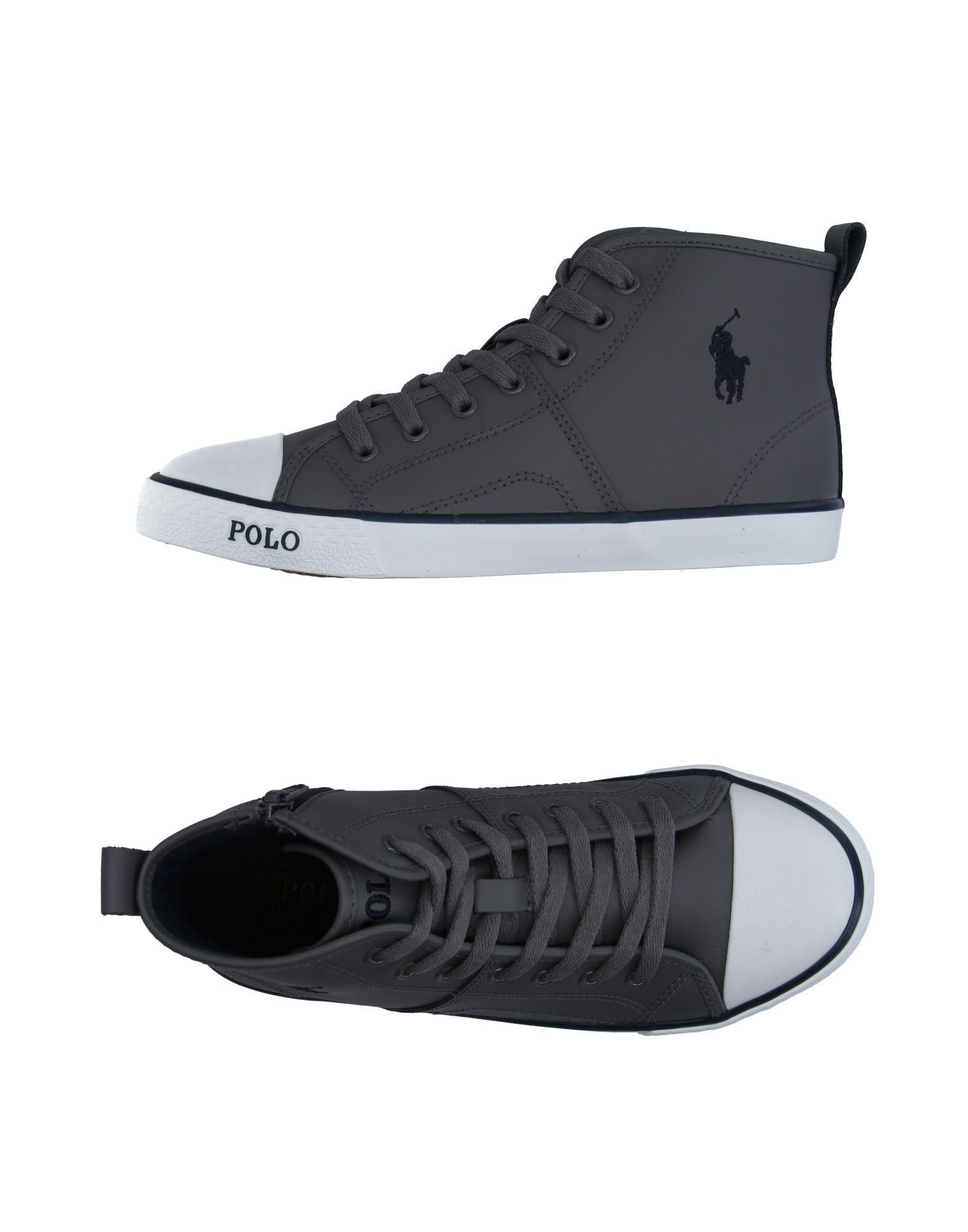 e7d42b5aa1b38 Lyst - Ralph Lauren High-tops   Sneakers in Gray for Men