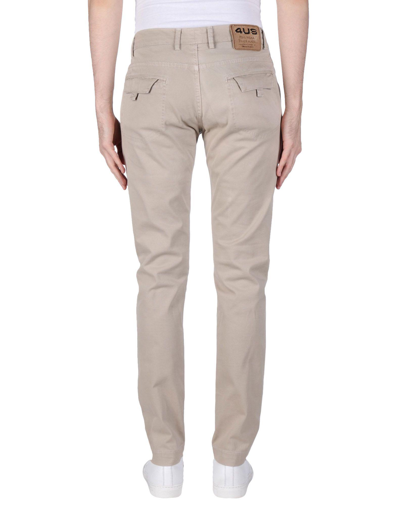 Cesare Paciotti Cotton Casual Trouser in Beige (Natural) for Men