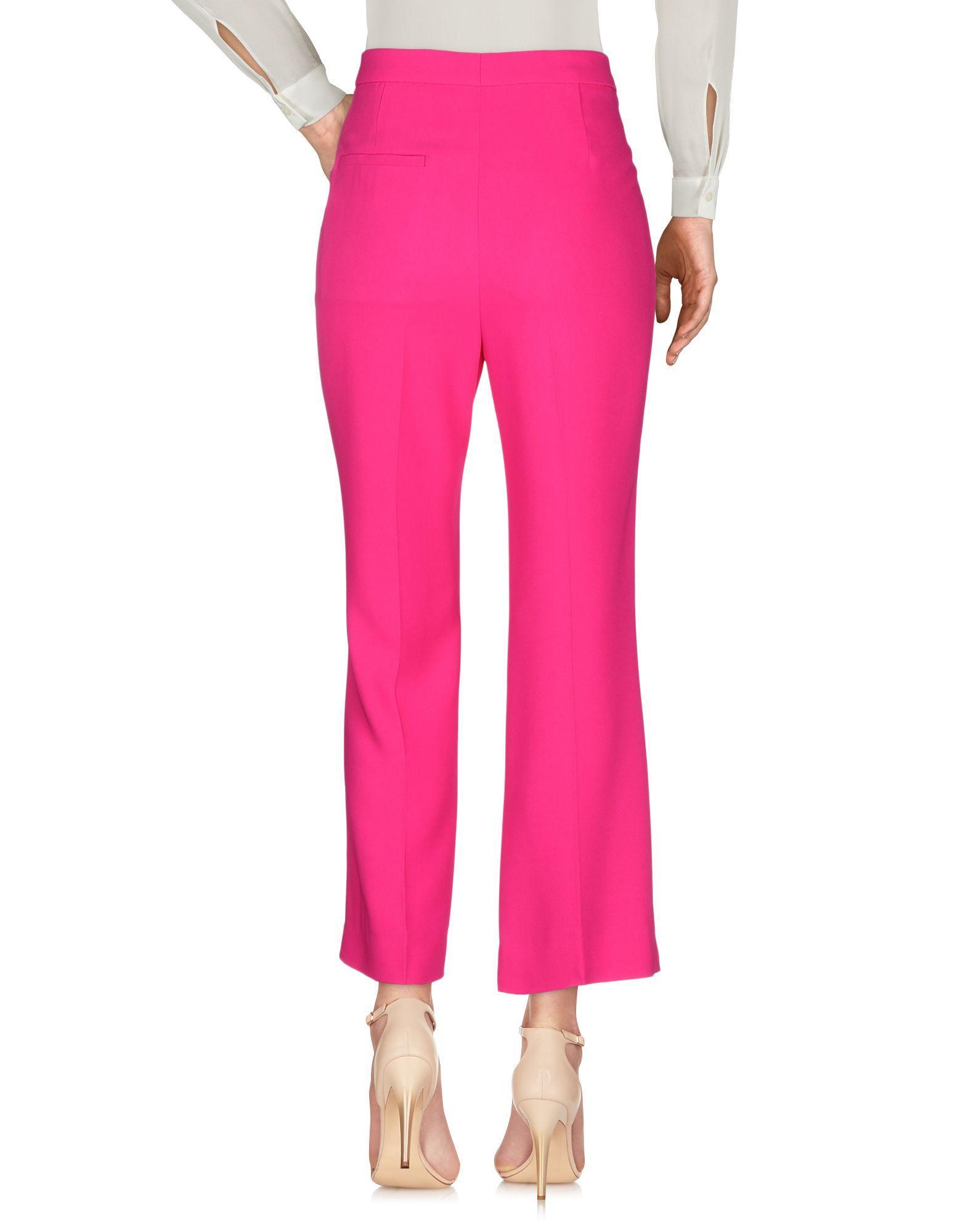 Pantalones Rochas de Tejido sintético de color Rosa