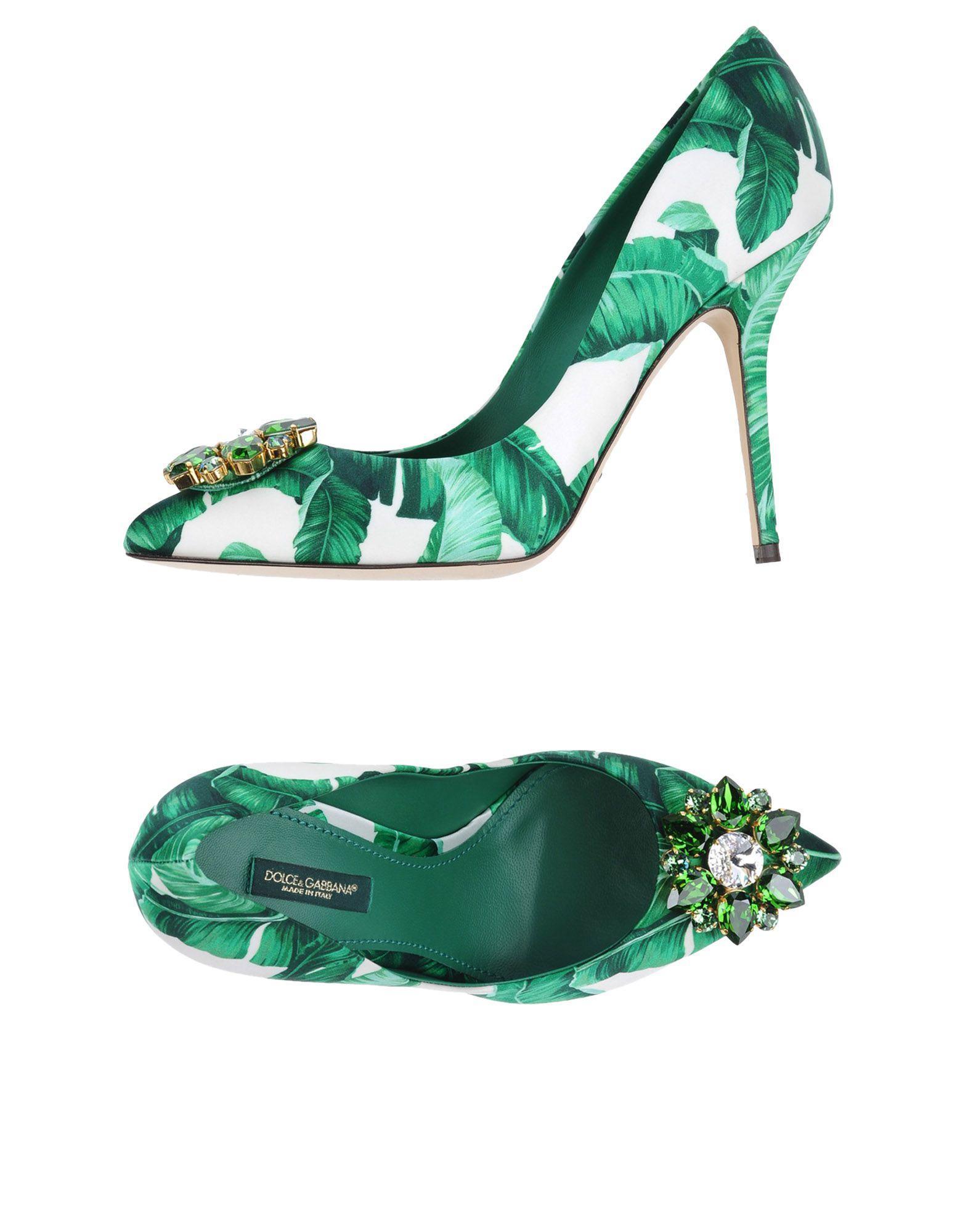 cc58bb3afe7 Lyst - Dolce   Gabbana Pump in Green