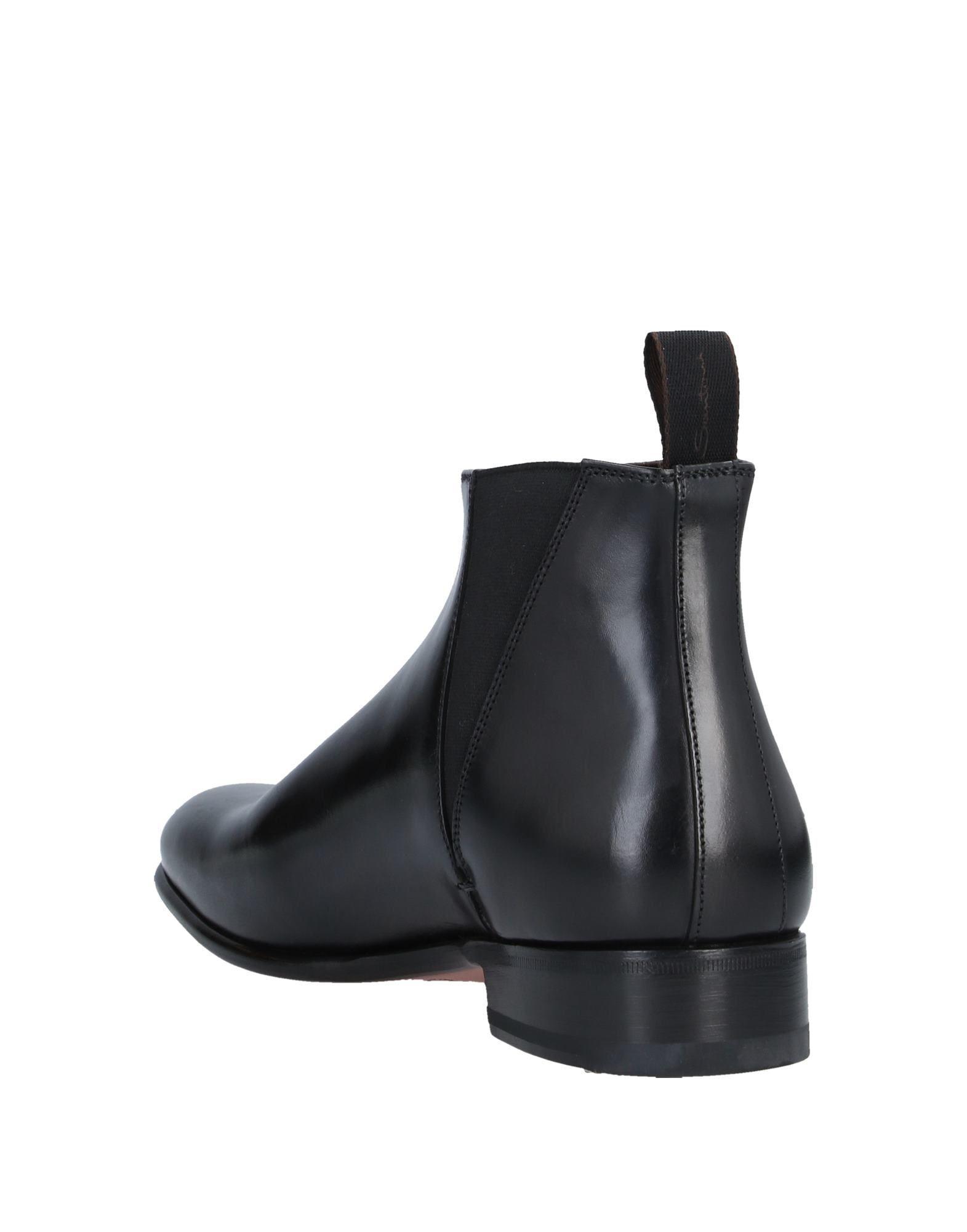 Botines de caña alta Santoni de hombre de color Negro