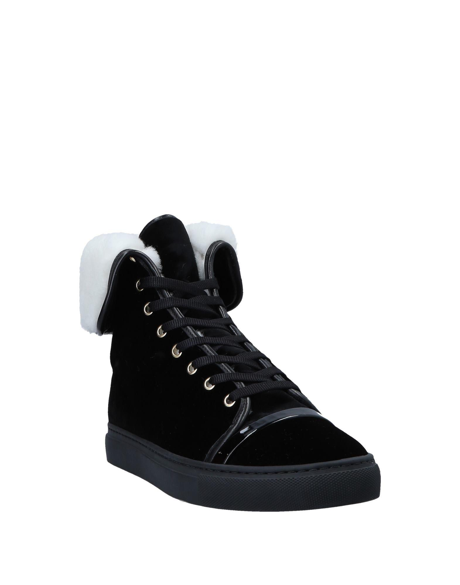 Lanvin Suede High-tops & Sneakers in Black