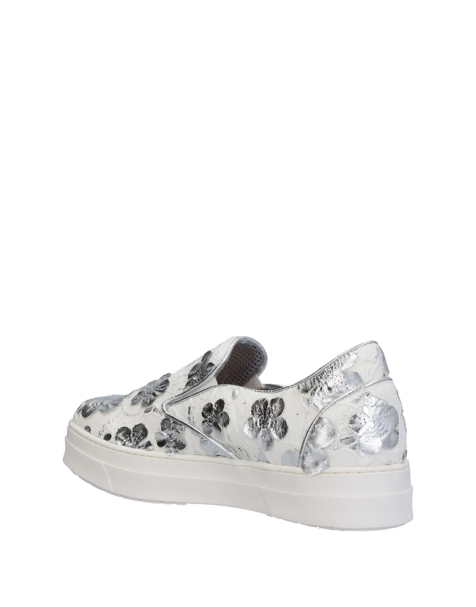 Sgn Giancarlo Paoli Lace Low-tops & Sneakers in Silver (Metallic)
