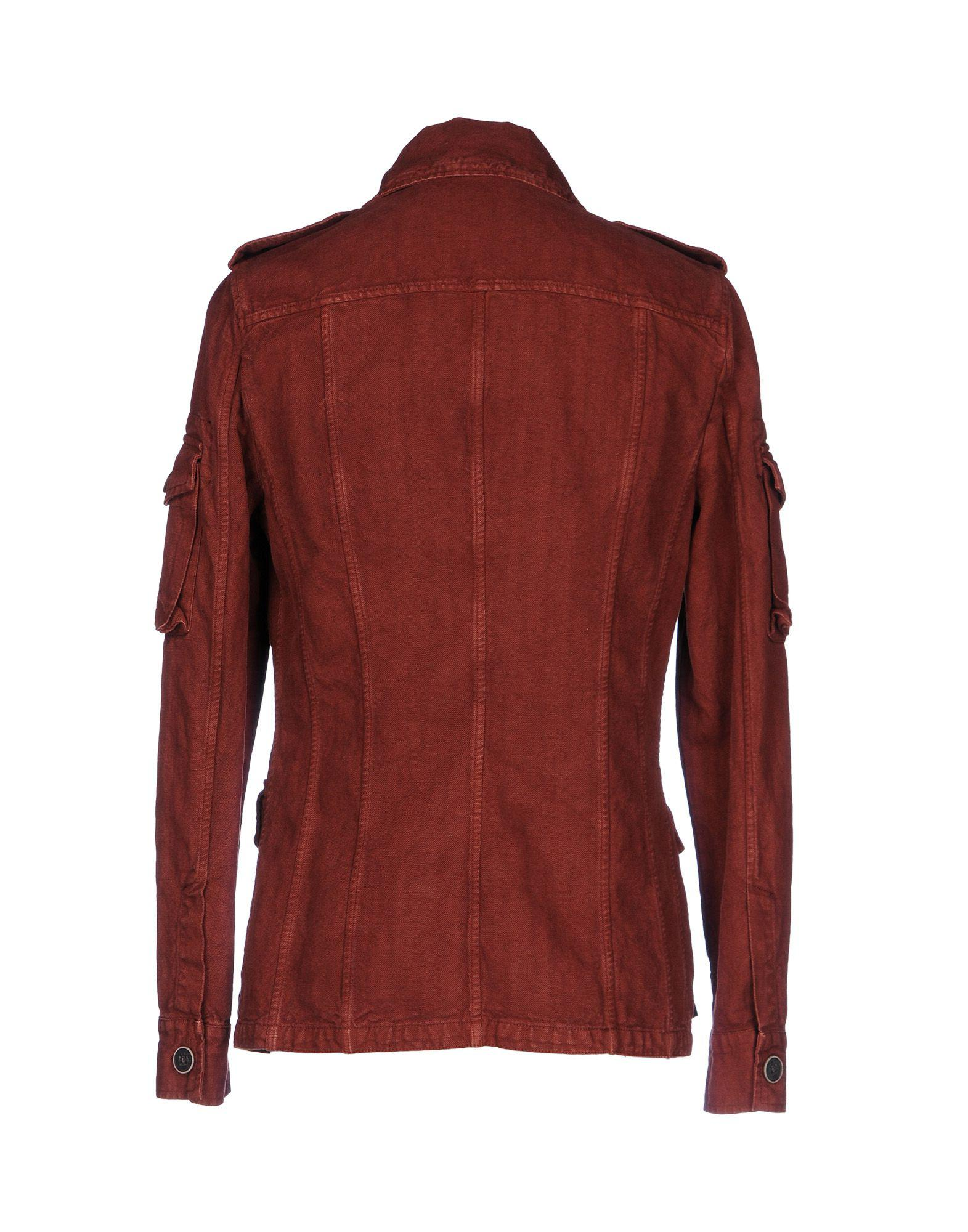Trussardi Canvas Jacket in Rust (Red) for Men