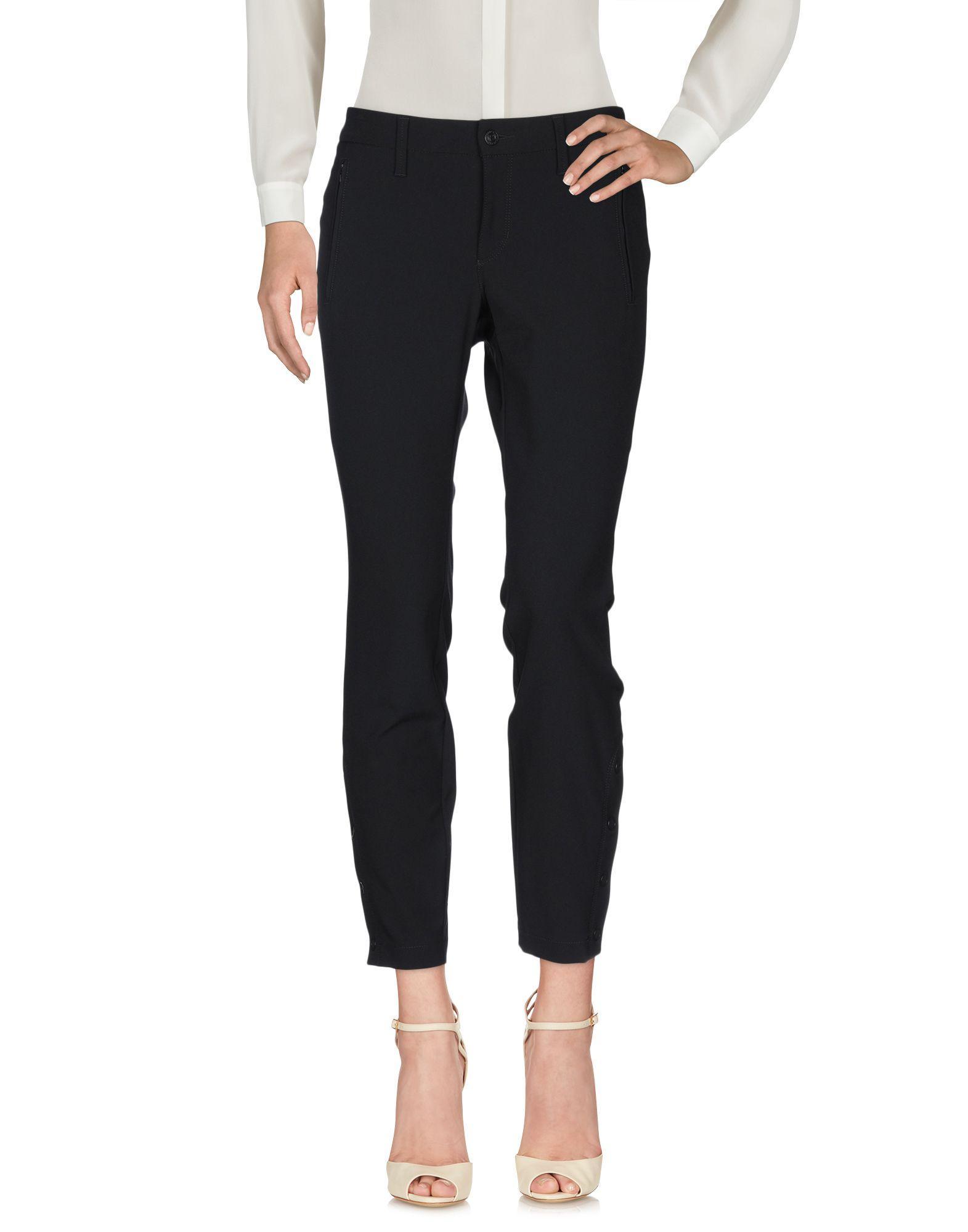 Pantalones Cambio de Tejido sintético de color Negro