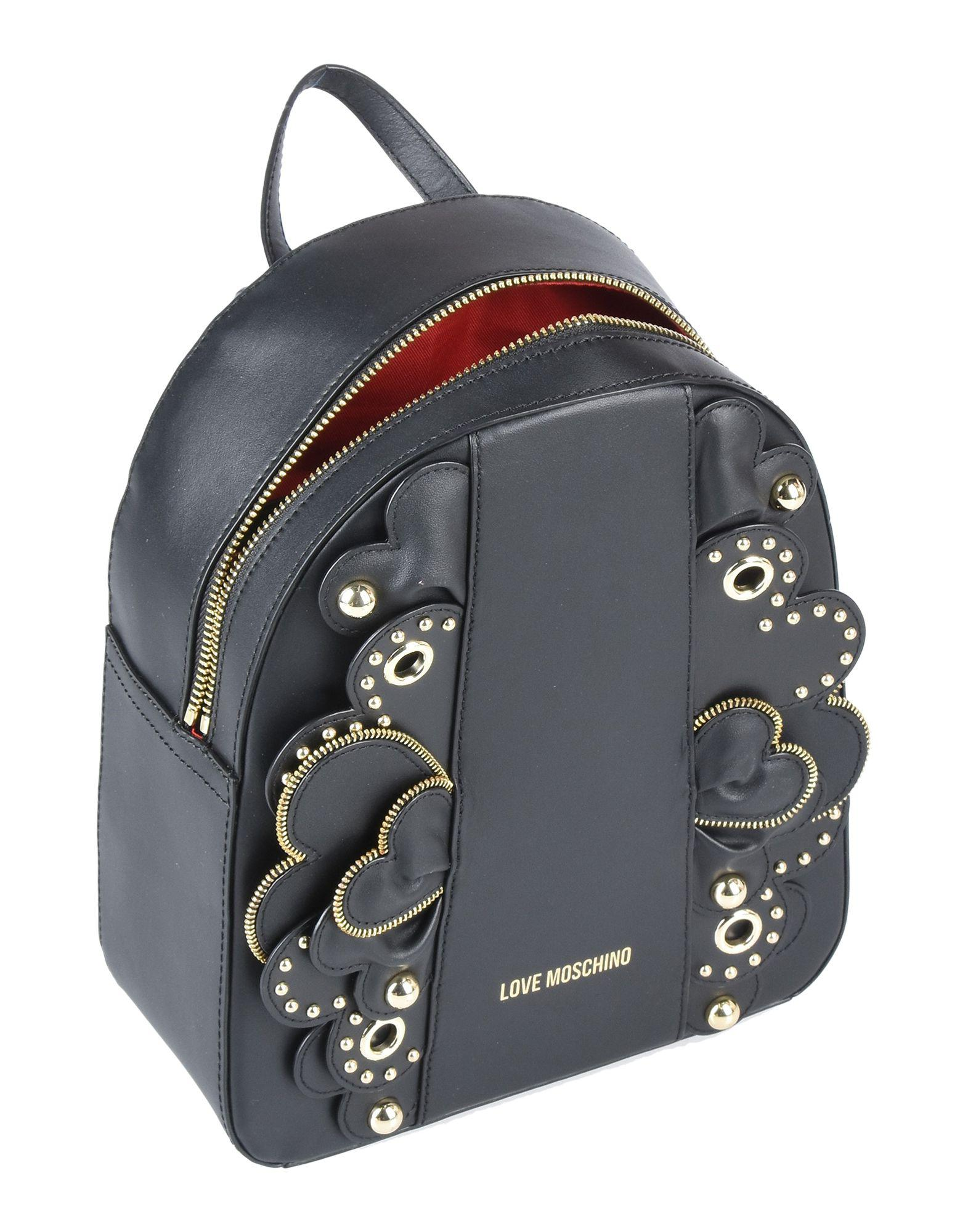 ff4c8fa1f1090 Lyst - Love Moschino Backpacks   Fanny Packs in Black
