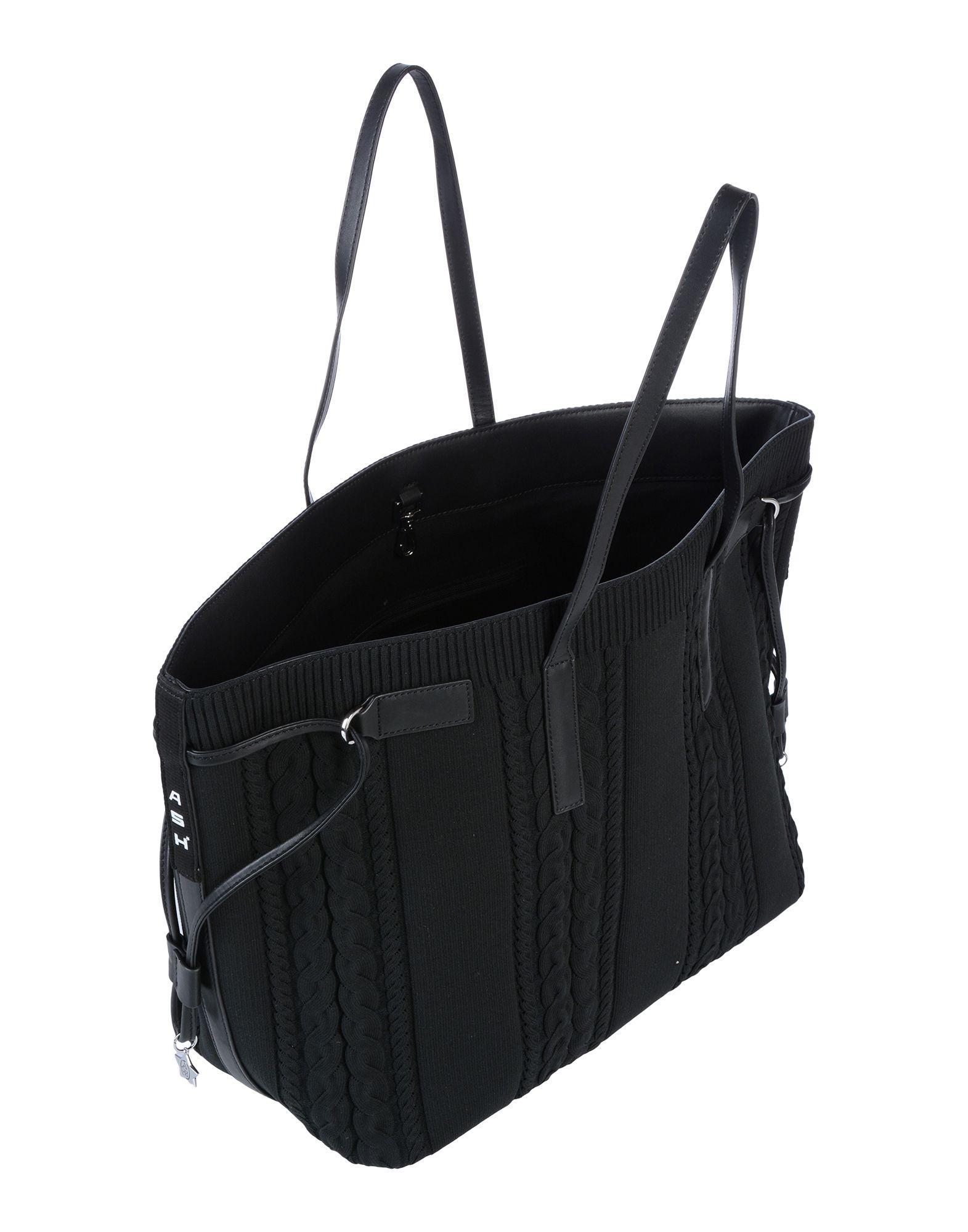 Ash Leder Handtaschen in Schwarz 41pw1