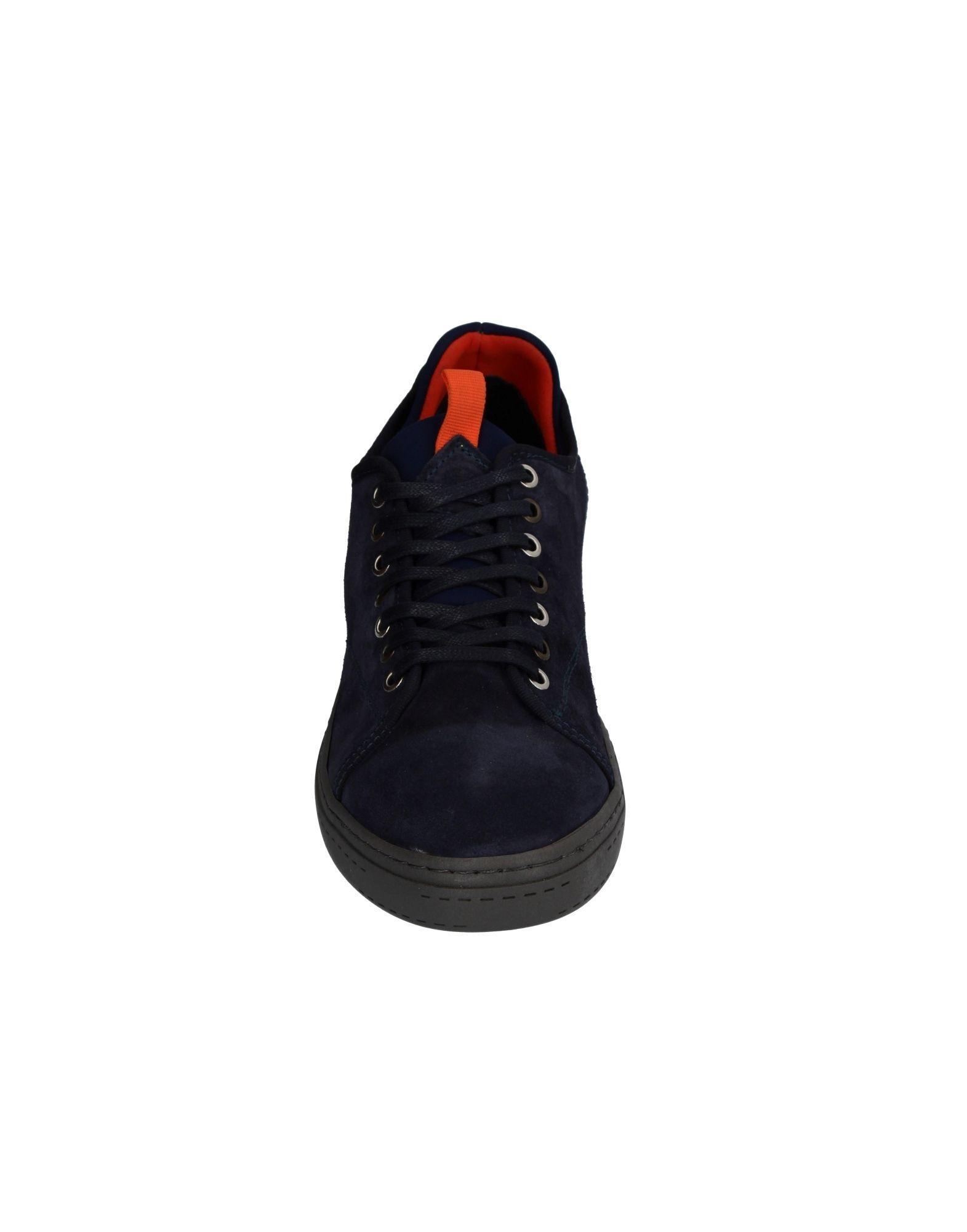 CafeNoir Leather Low-tops & Sneakers in Dark Blue (Black) for Men