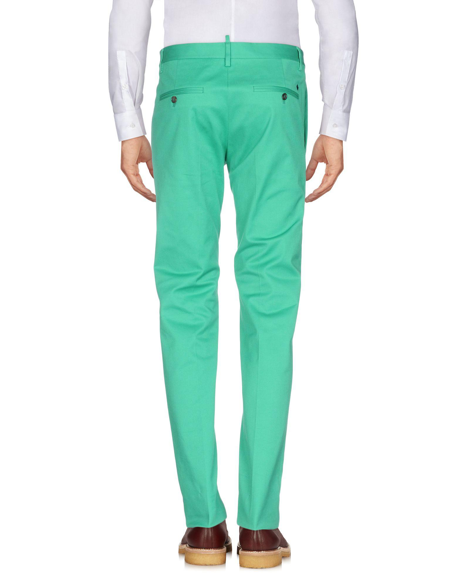 DSquared² Cotton Casual Pants in Green for Men