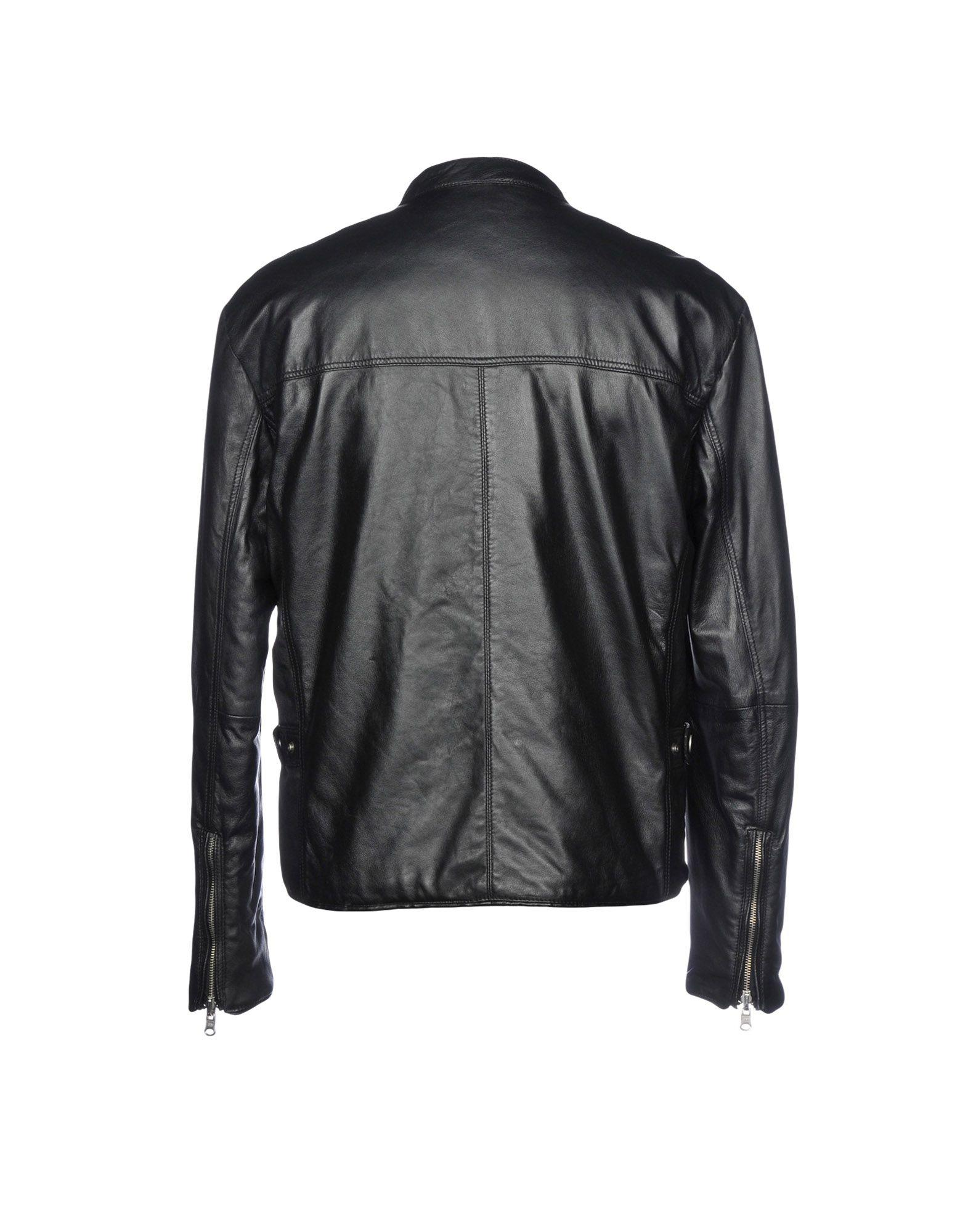 Paolo Pecora Leather Jacket in Black for Men