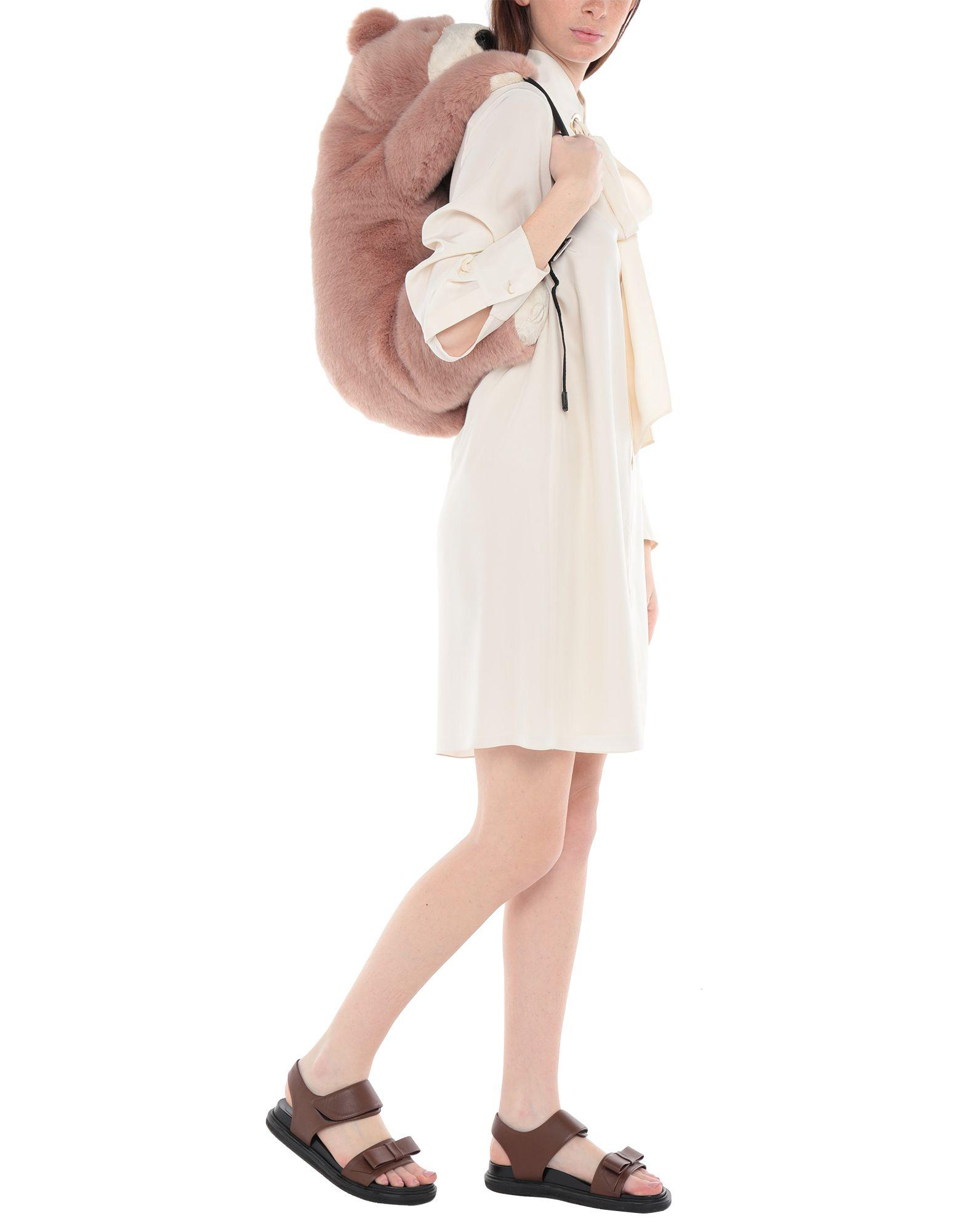 Dolce & Gabbana Fur Backpacks & Bum Bags in Pastel Pink (Pink)