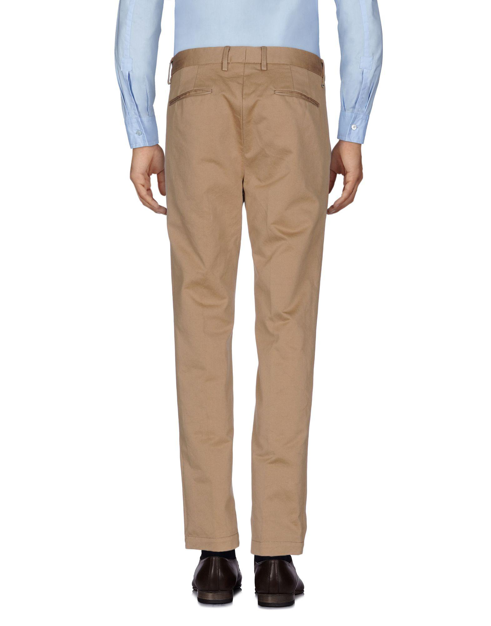 Pence Cotton Casual Trouser in Sand (Natural) for Men