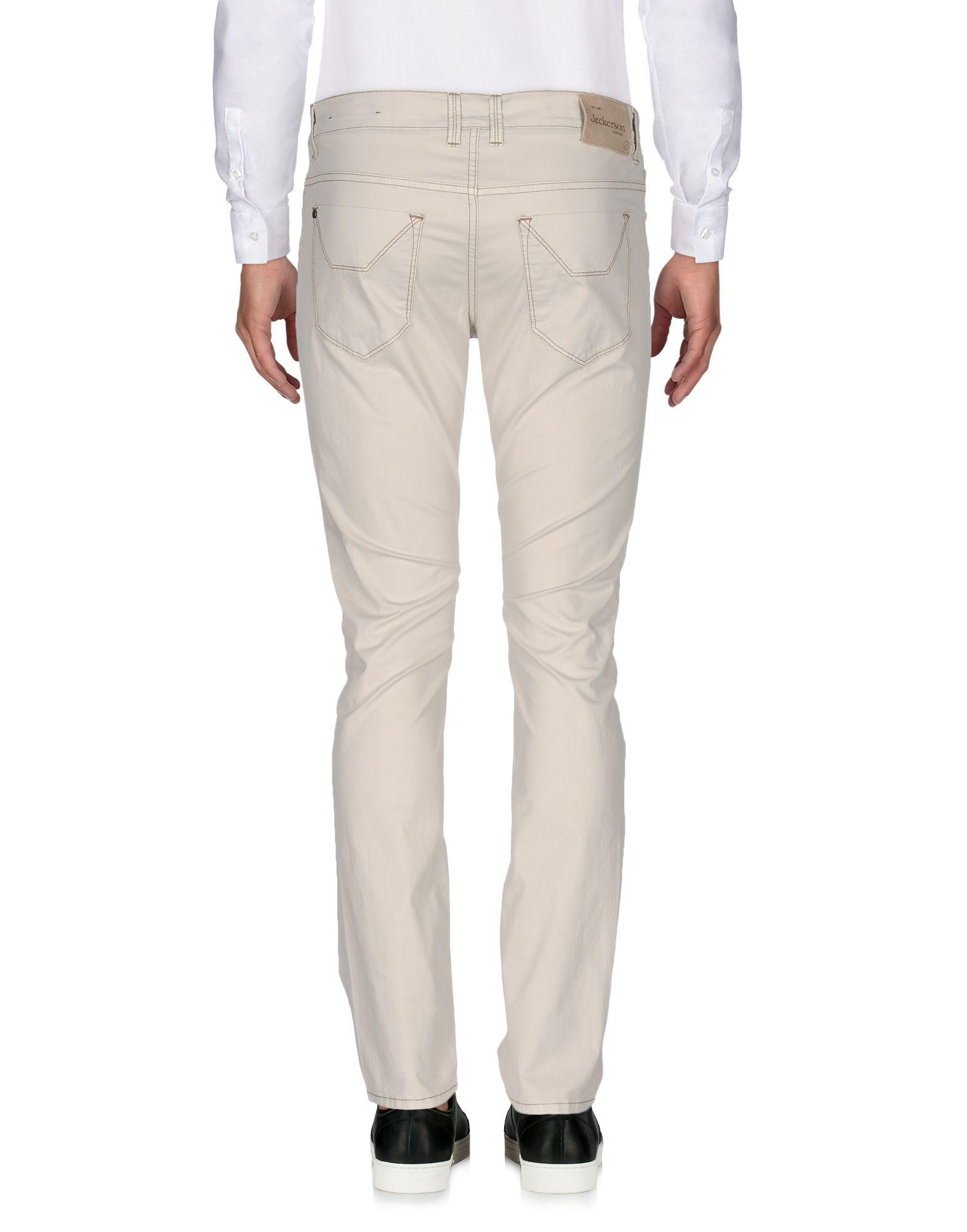 Jeckerson Leather Casual Trouser in Light Grey (Grey) for Men