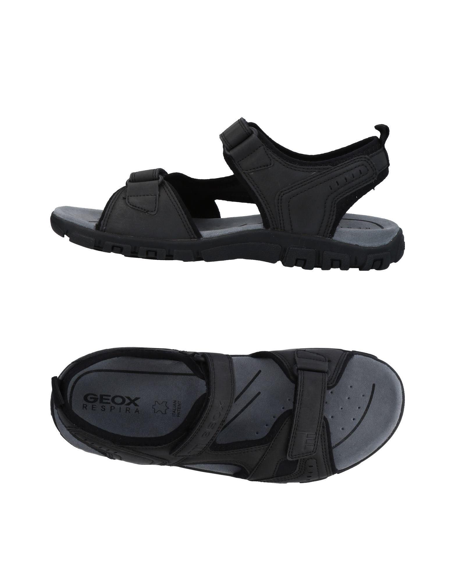 geox black sandals