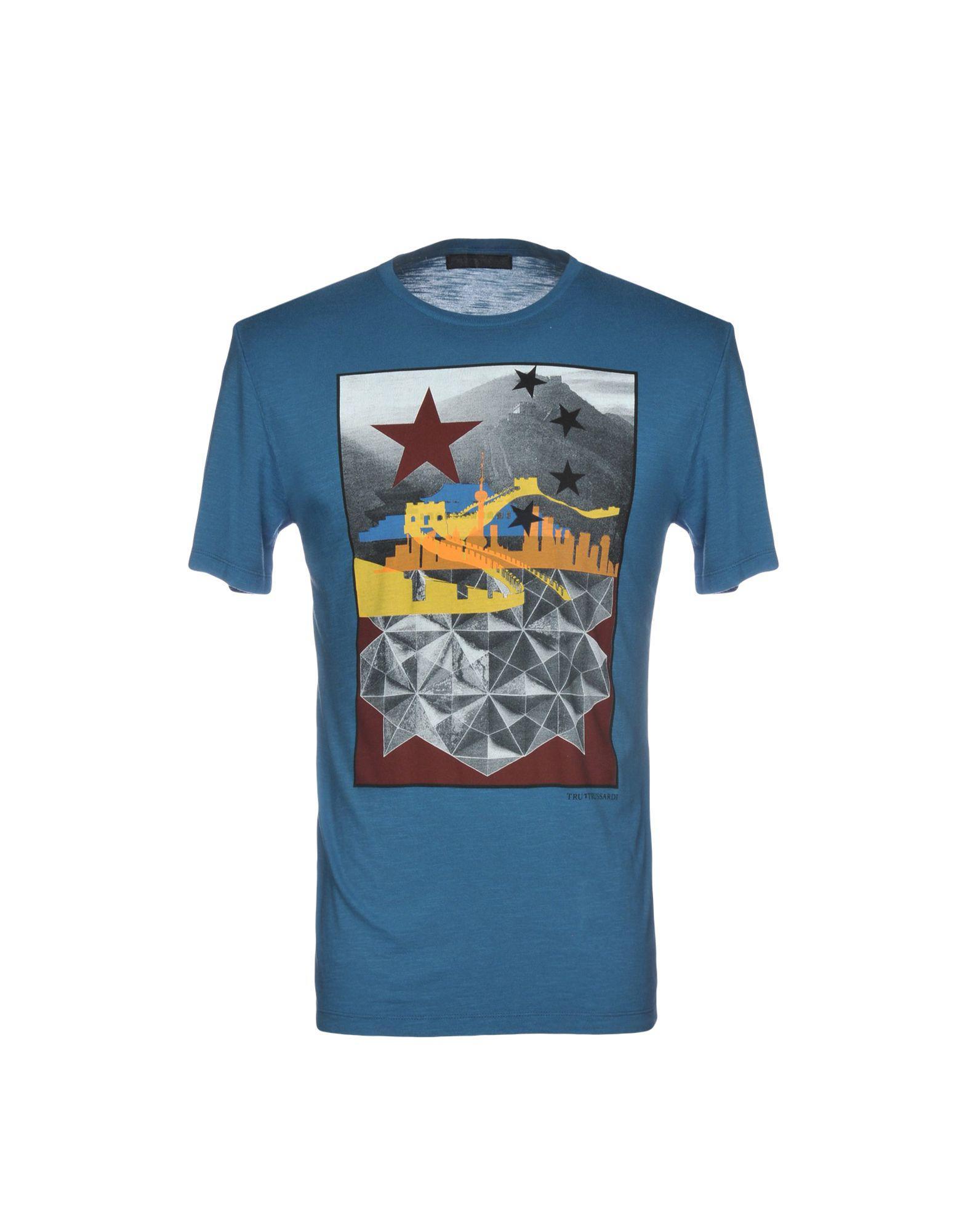 019b75c4c7 Lyst - Camiseta Tru Trussardi de hombre de color Azul