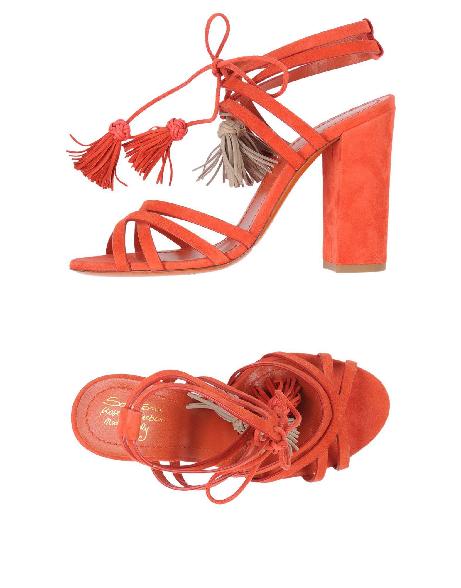 cd948529f55 Lyst - Santoni Sandals in Red