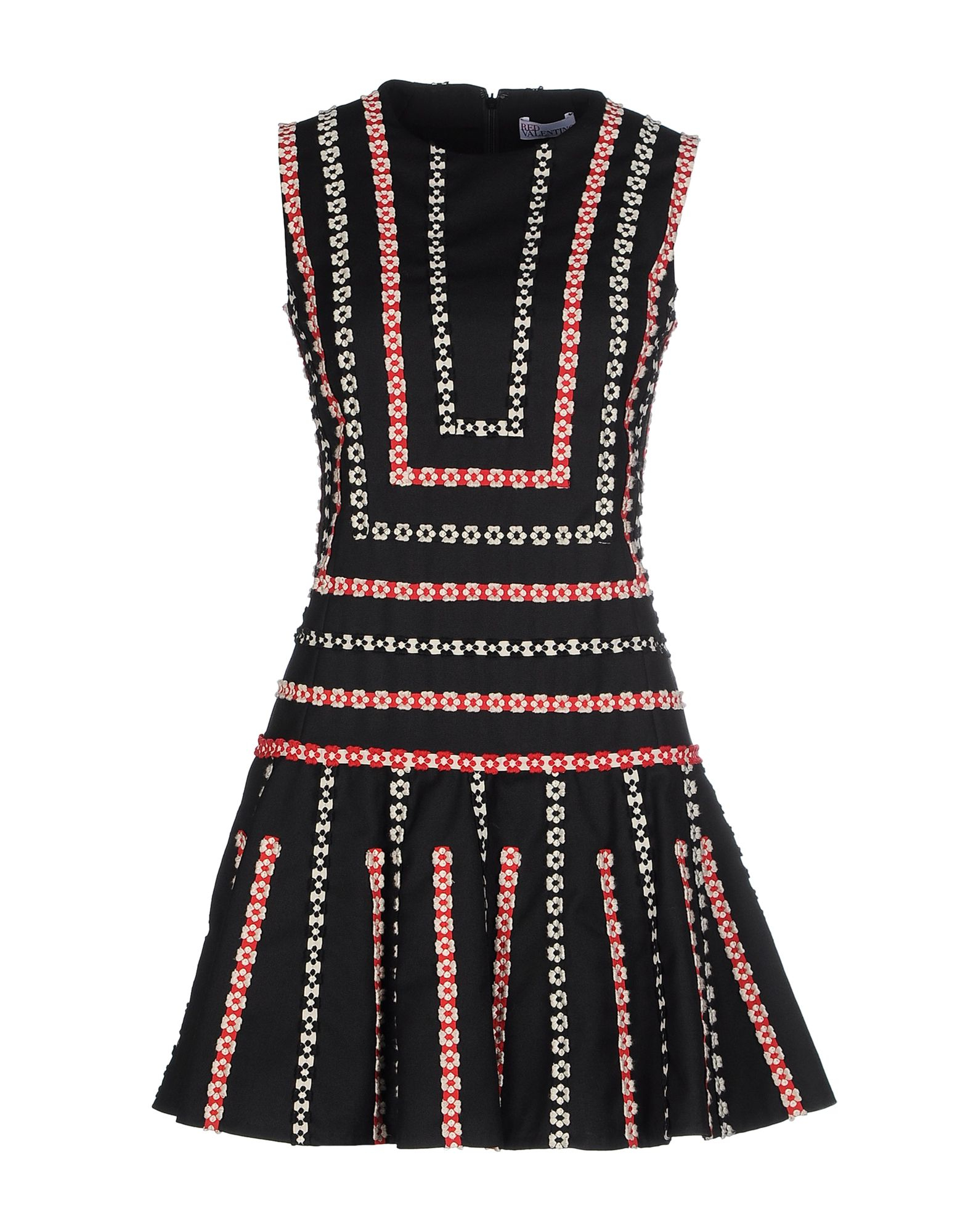 Lyst red valentino embroidered ribbon sleeveless dress