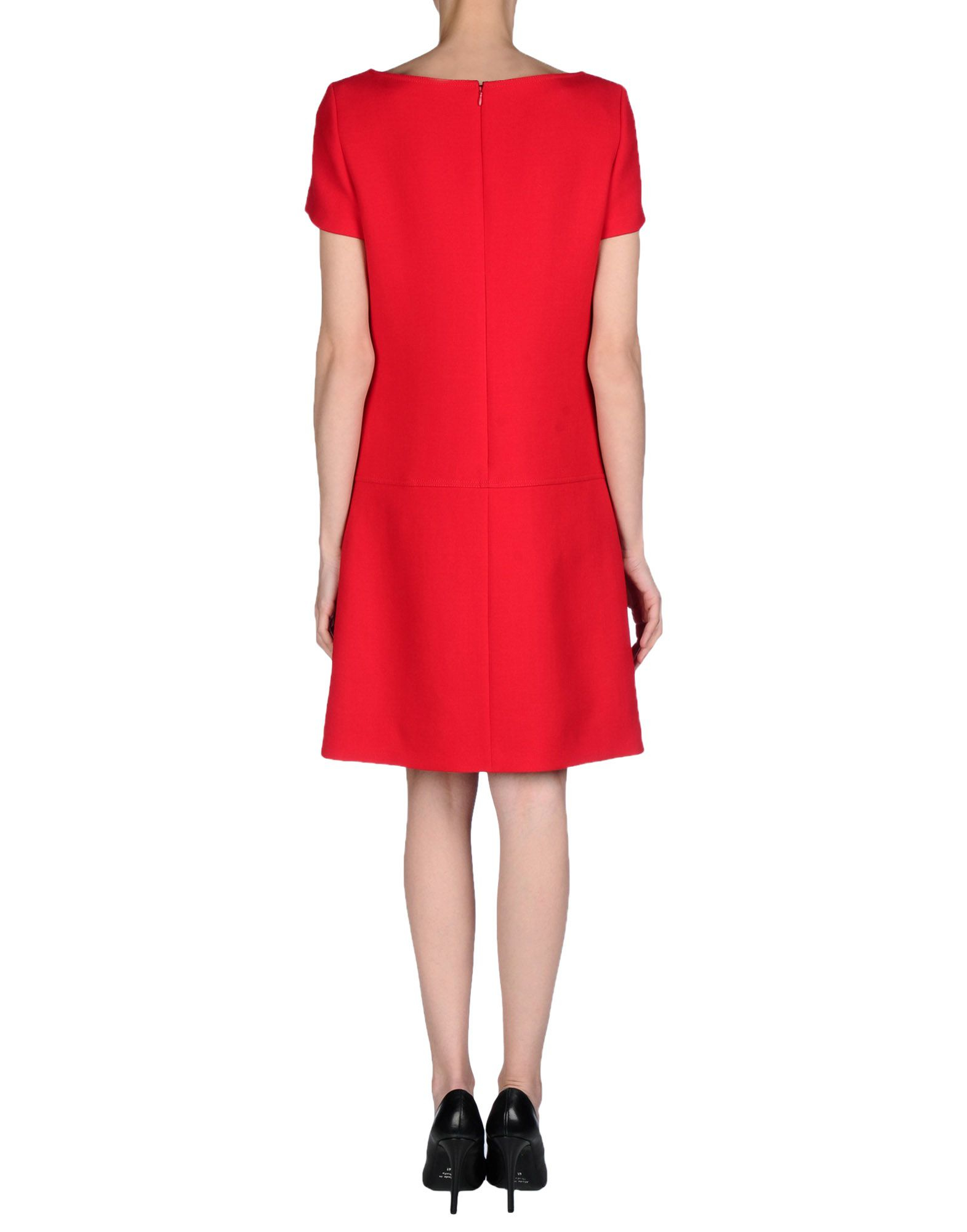 prada short dress in red lyst