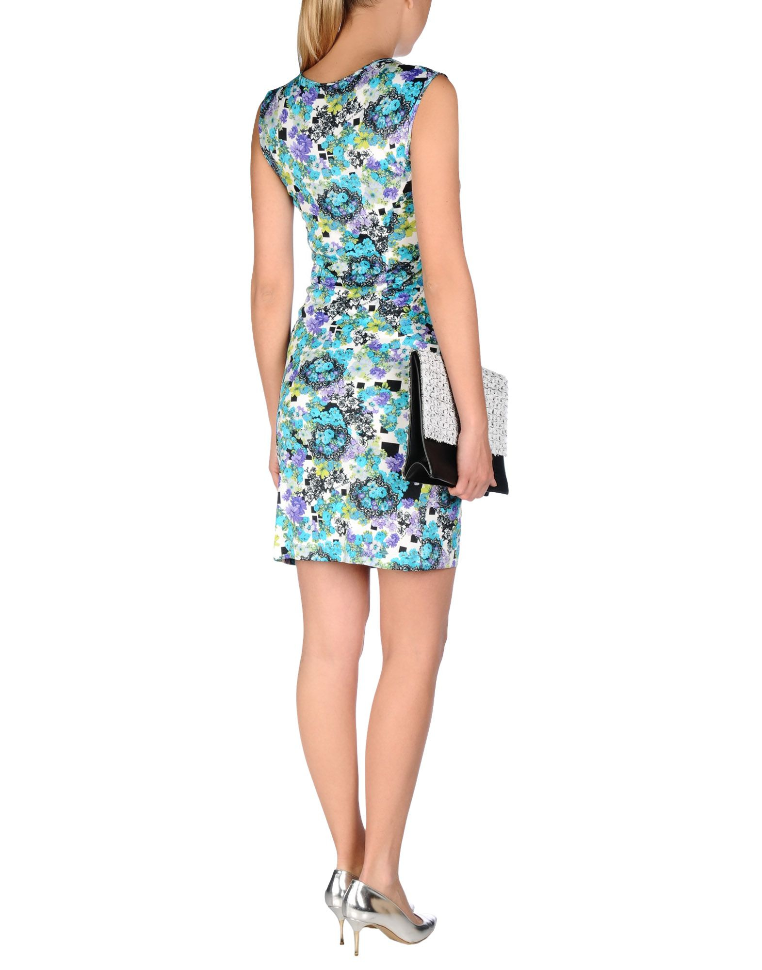 versace jeans short dress in white lyst