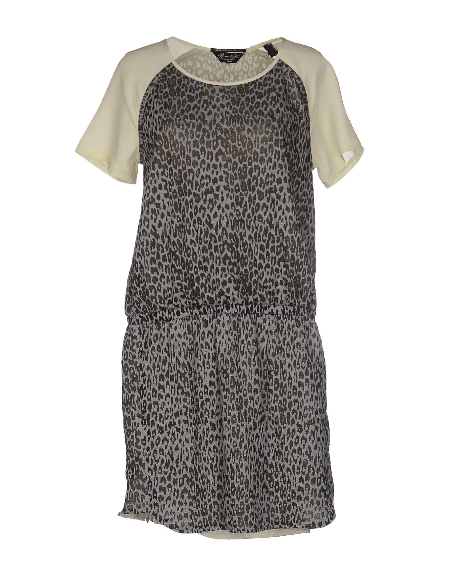 Maison scotch short dress in gray lyst for Atelier maison scotch