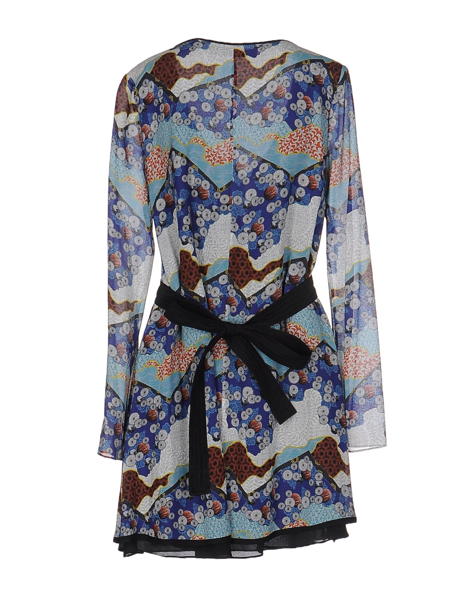 Proenza Schouler Silk Floral Print Handkerchief Hem Wrap