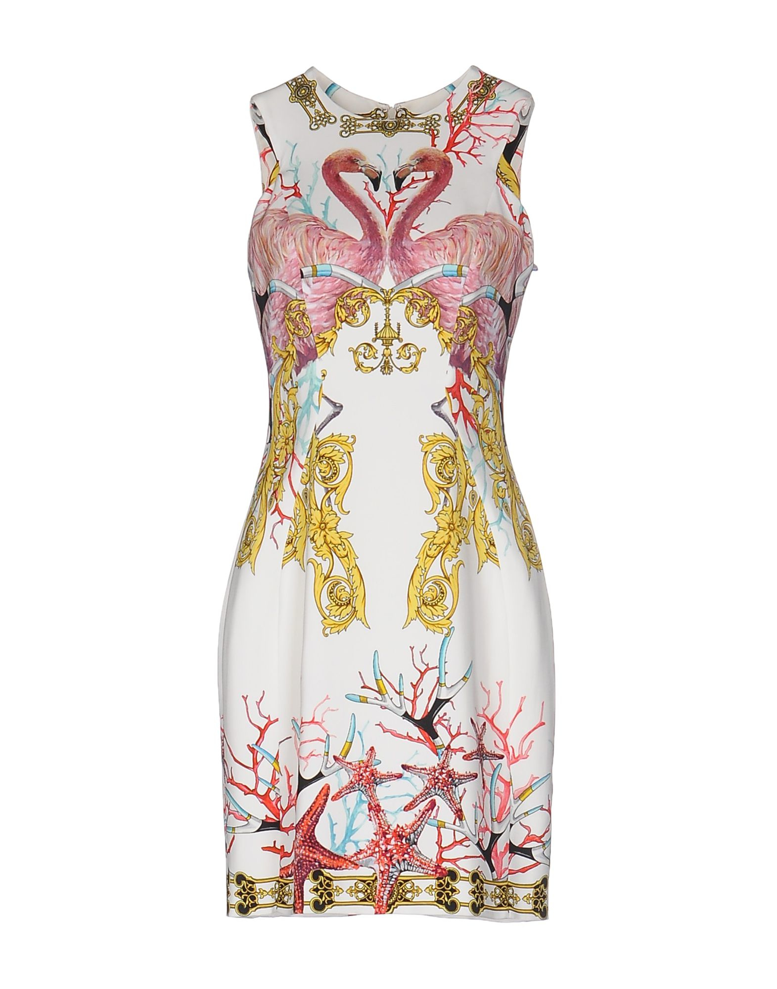 lyst versace short dress in white