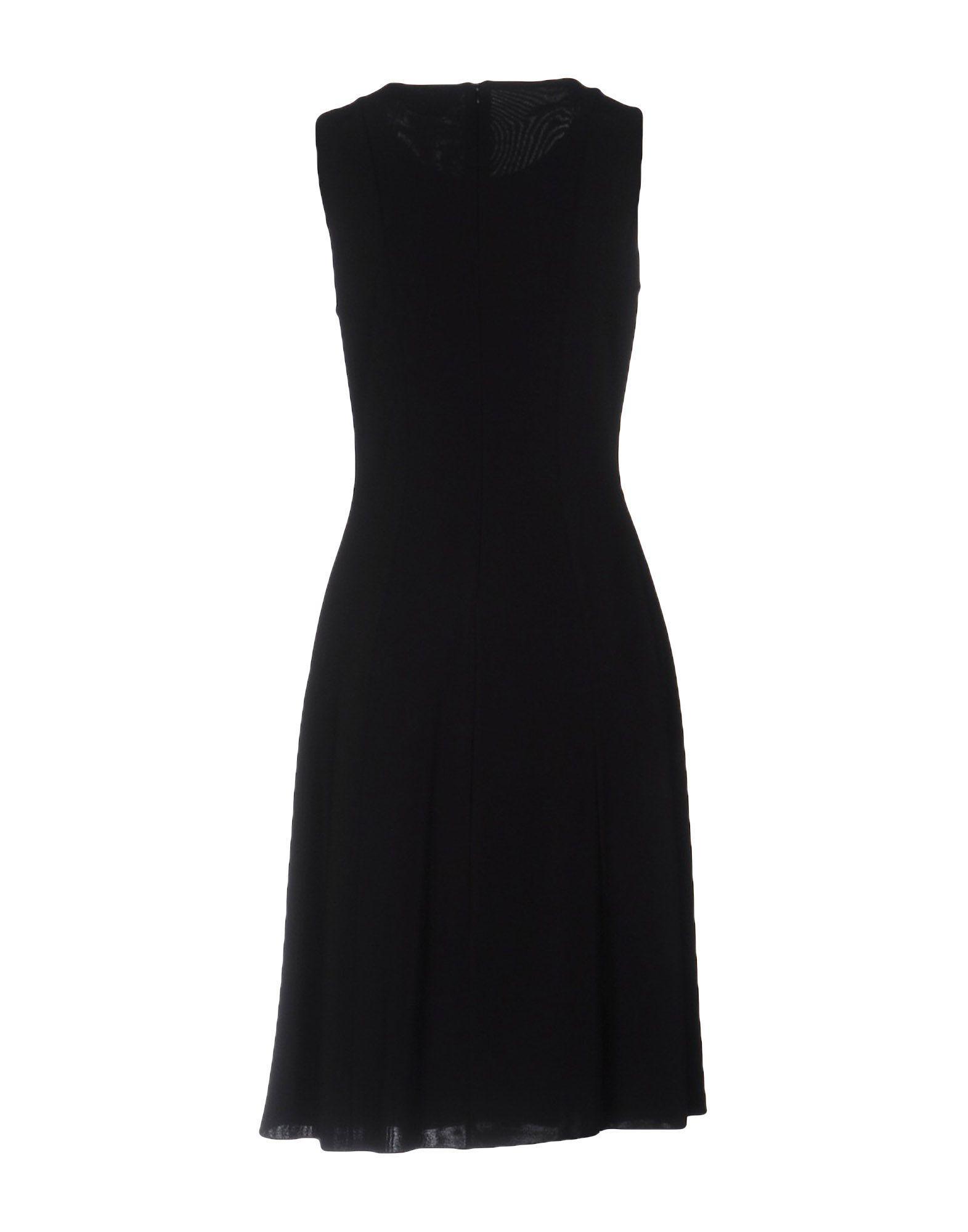 Lyst Max Mara Studio Knee Length Dress In Black