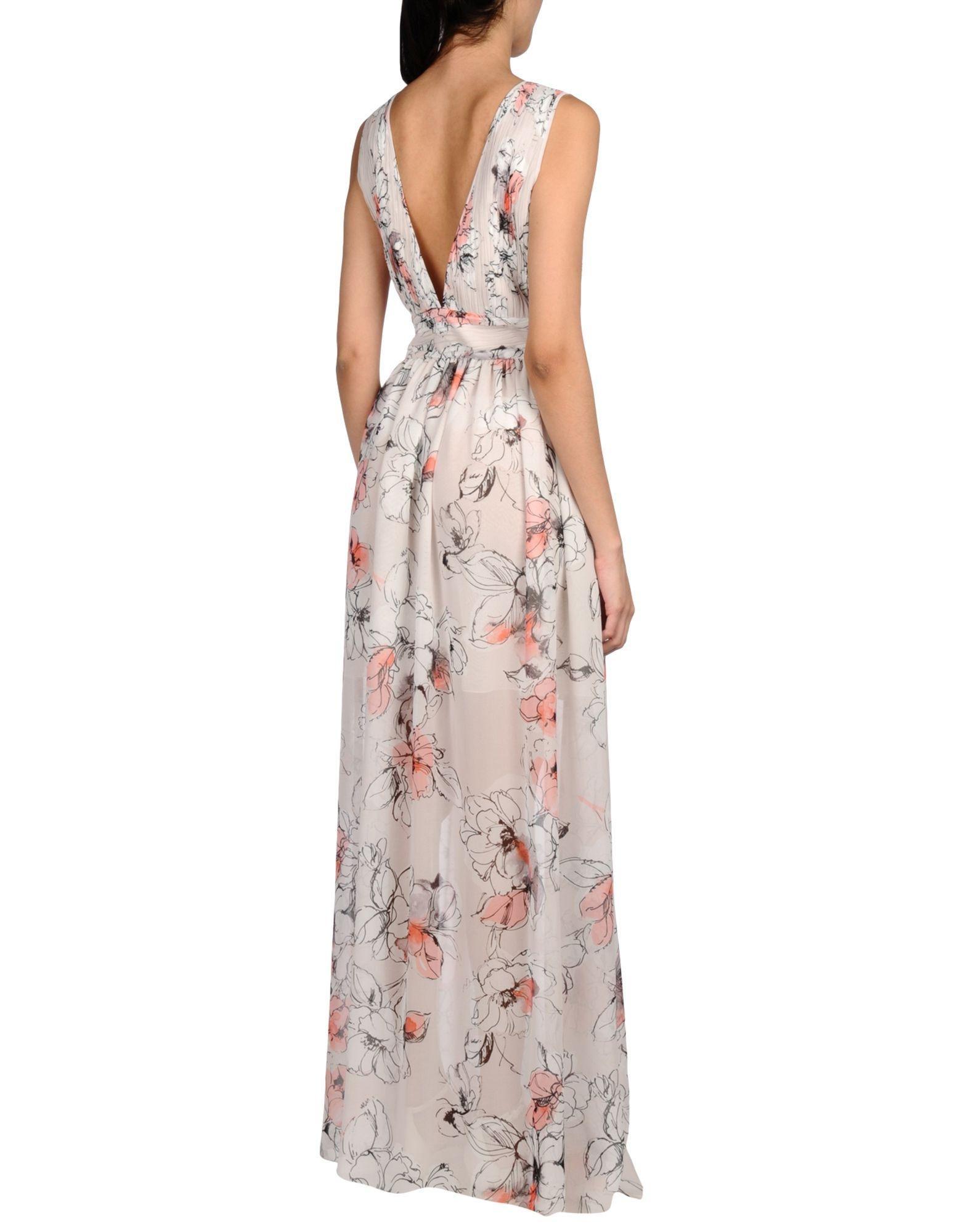 Blugirl Blumarine Synthetic Long Dress in Light Grey (Grey)