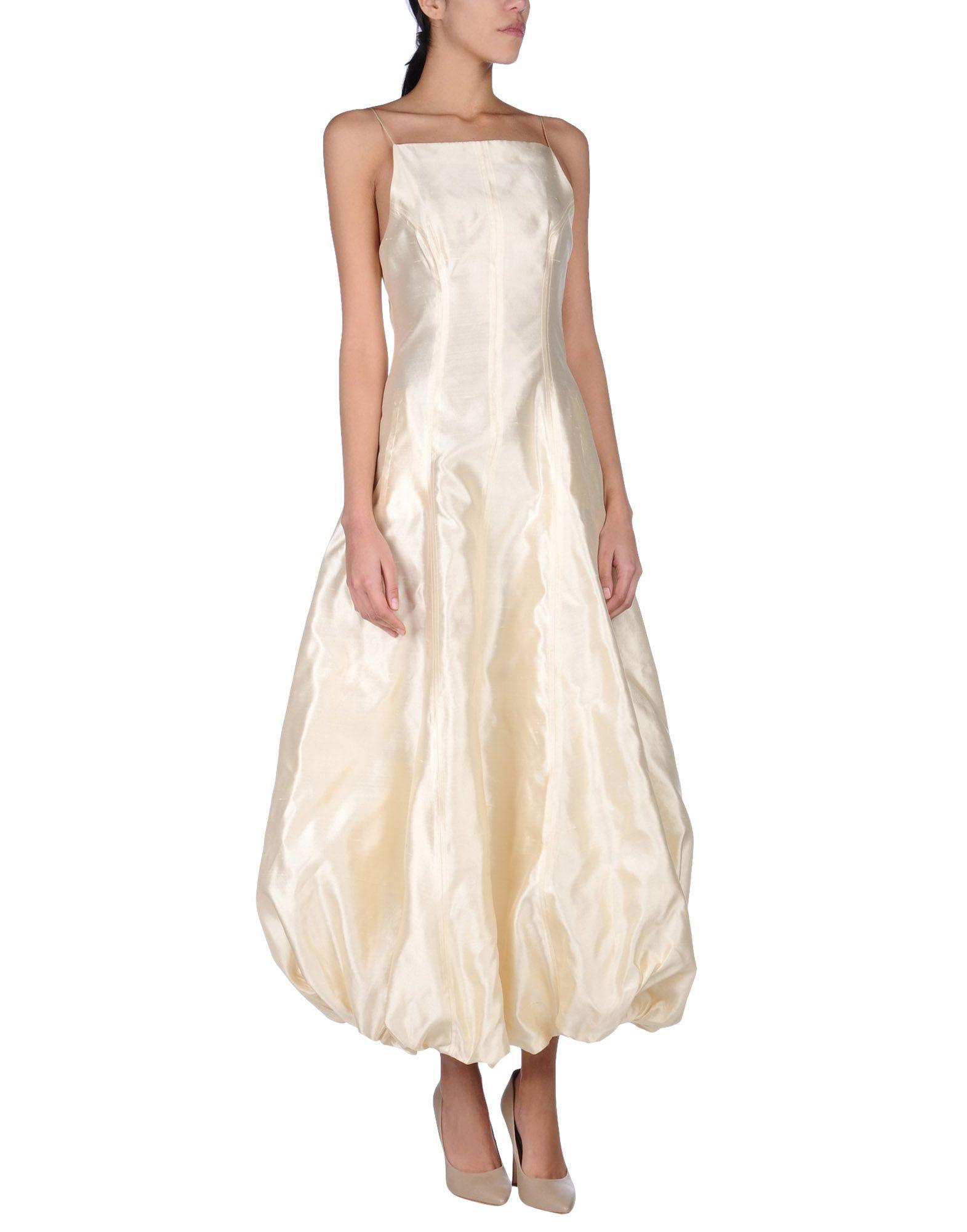 gai mattiolo couture long dress in natural lyst