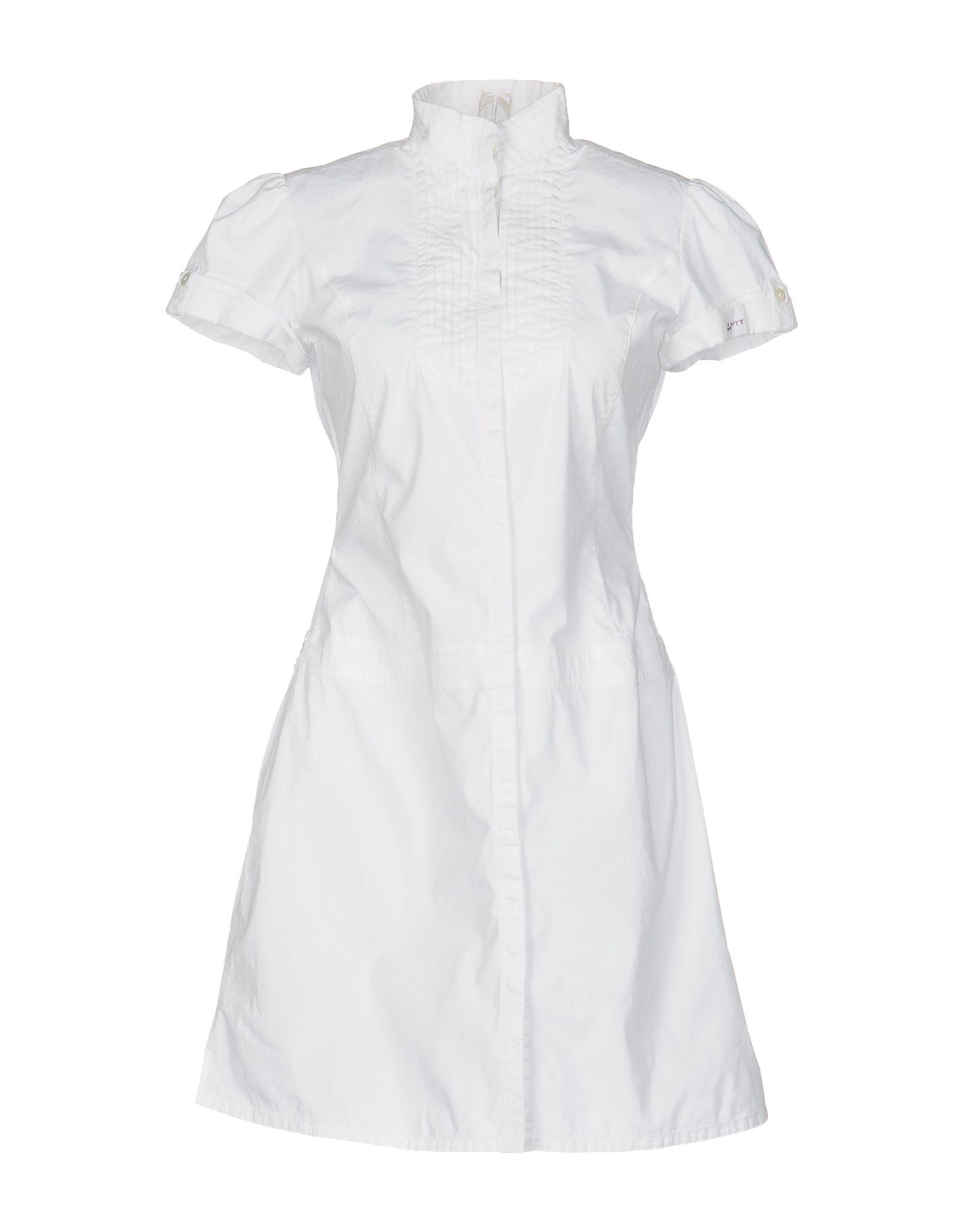 Peuterey Short Dress In White Lyst