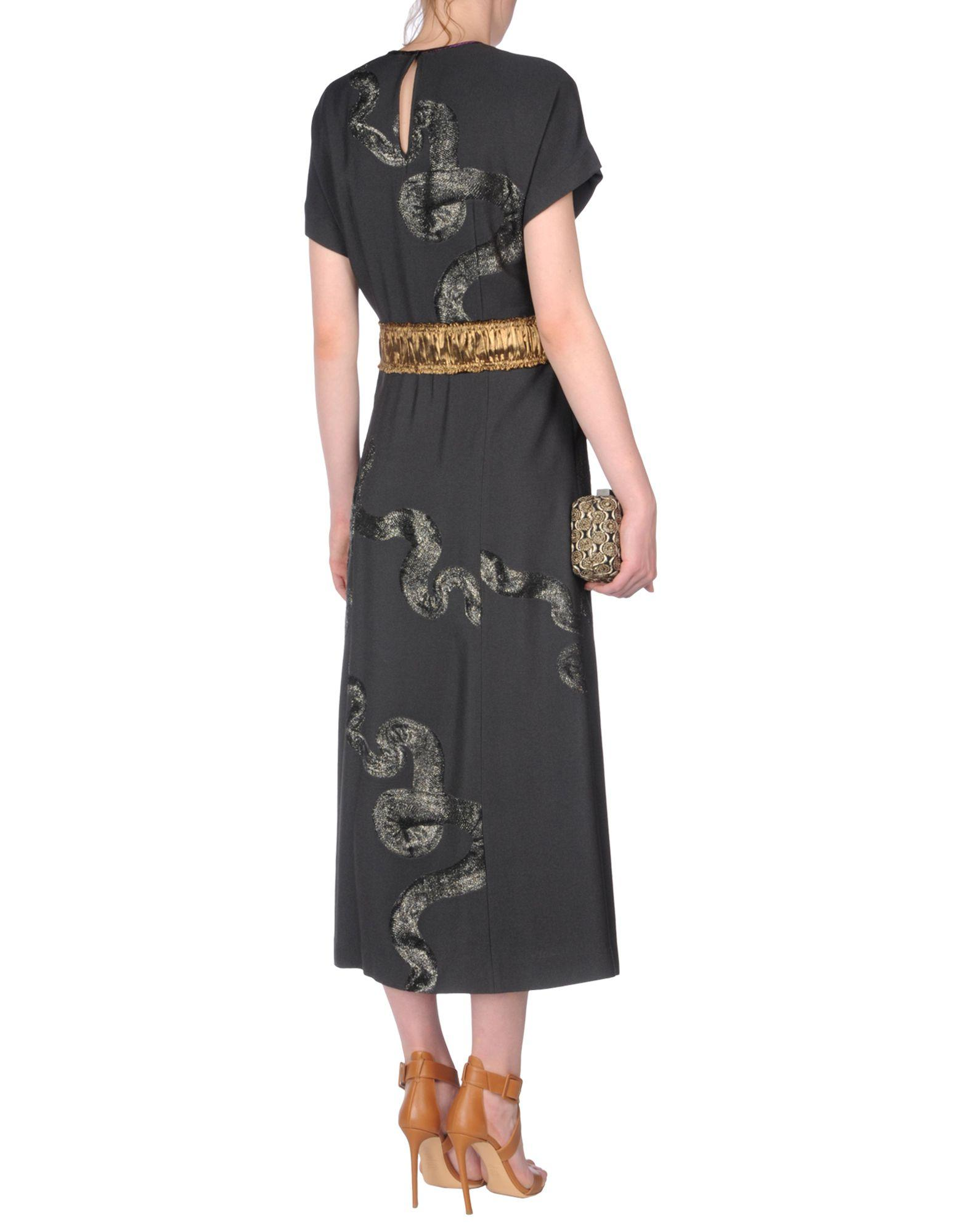 Dries Van Noten Synthetic Long Dress in Steel Grey (Grey)