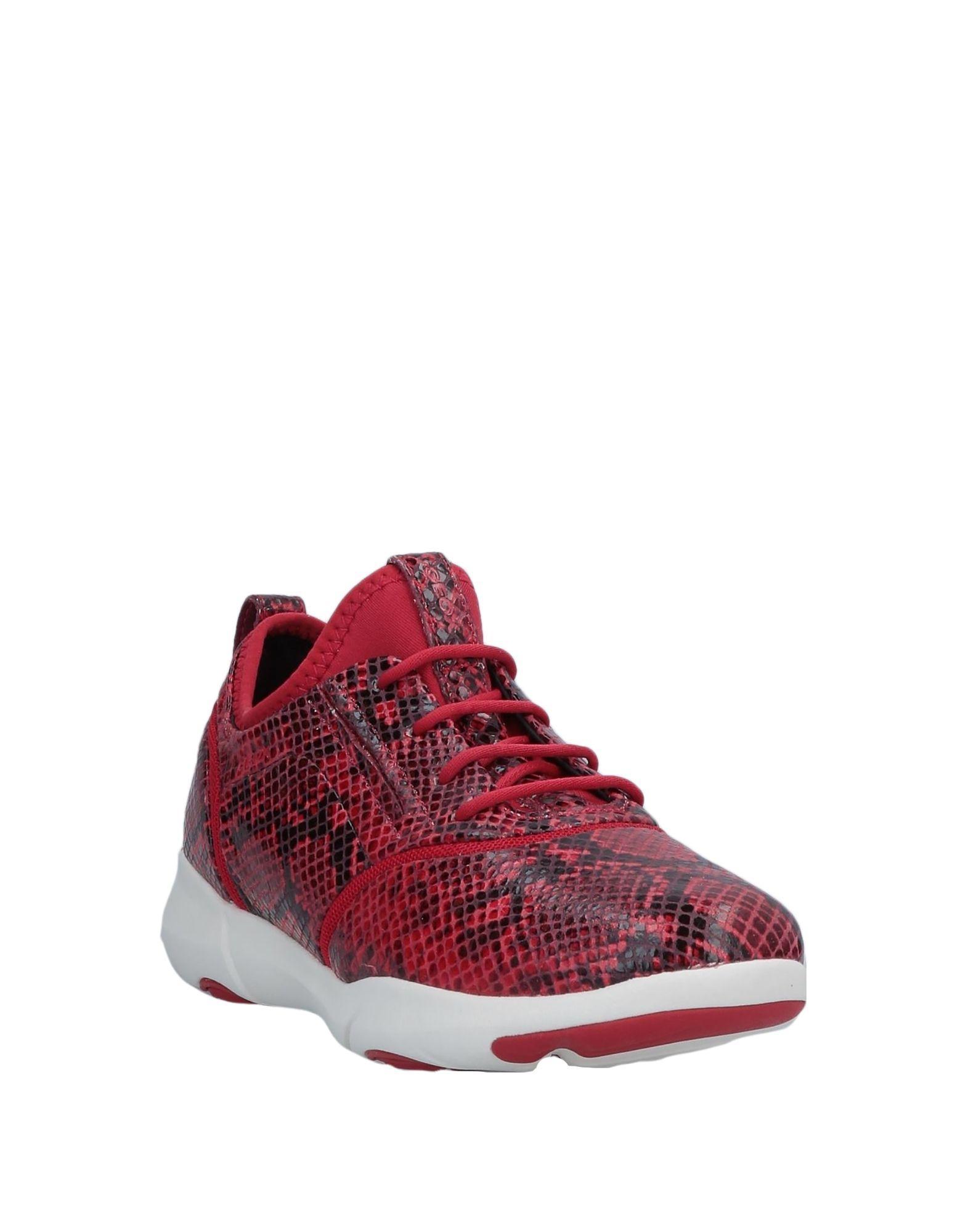 Sneakers & Deportivas Geox de Cuero de color Rojo