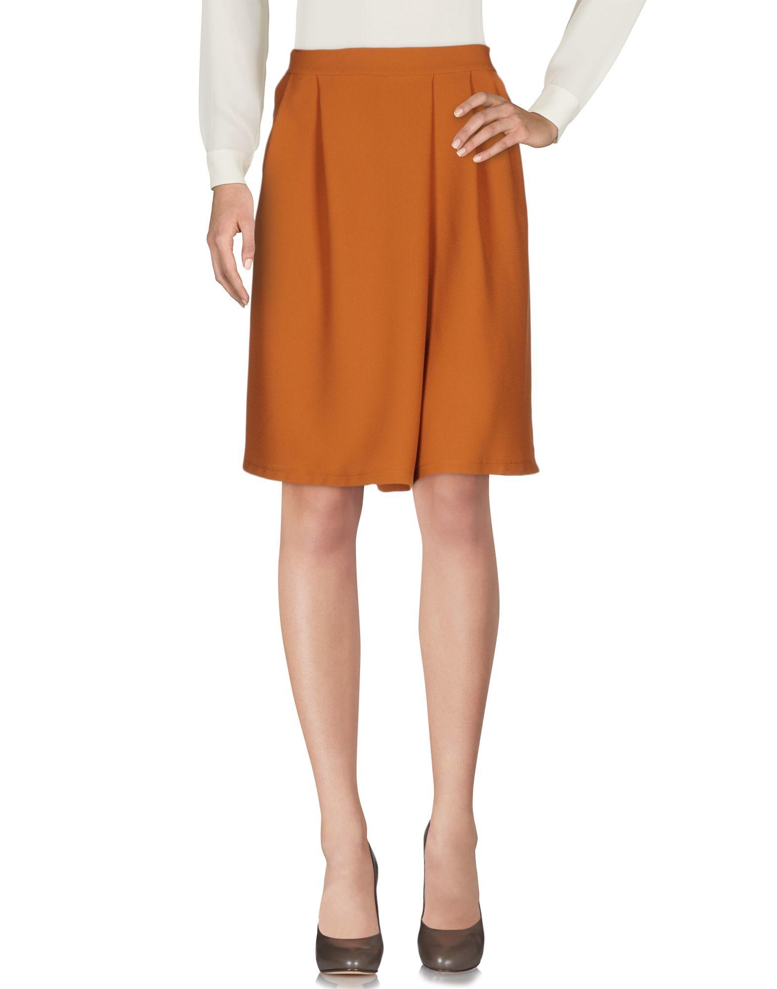 berna knee length skirt in brown lyst