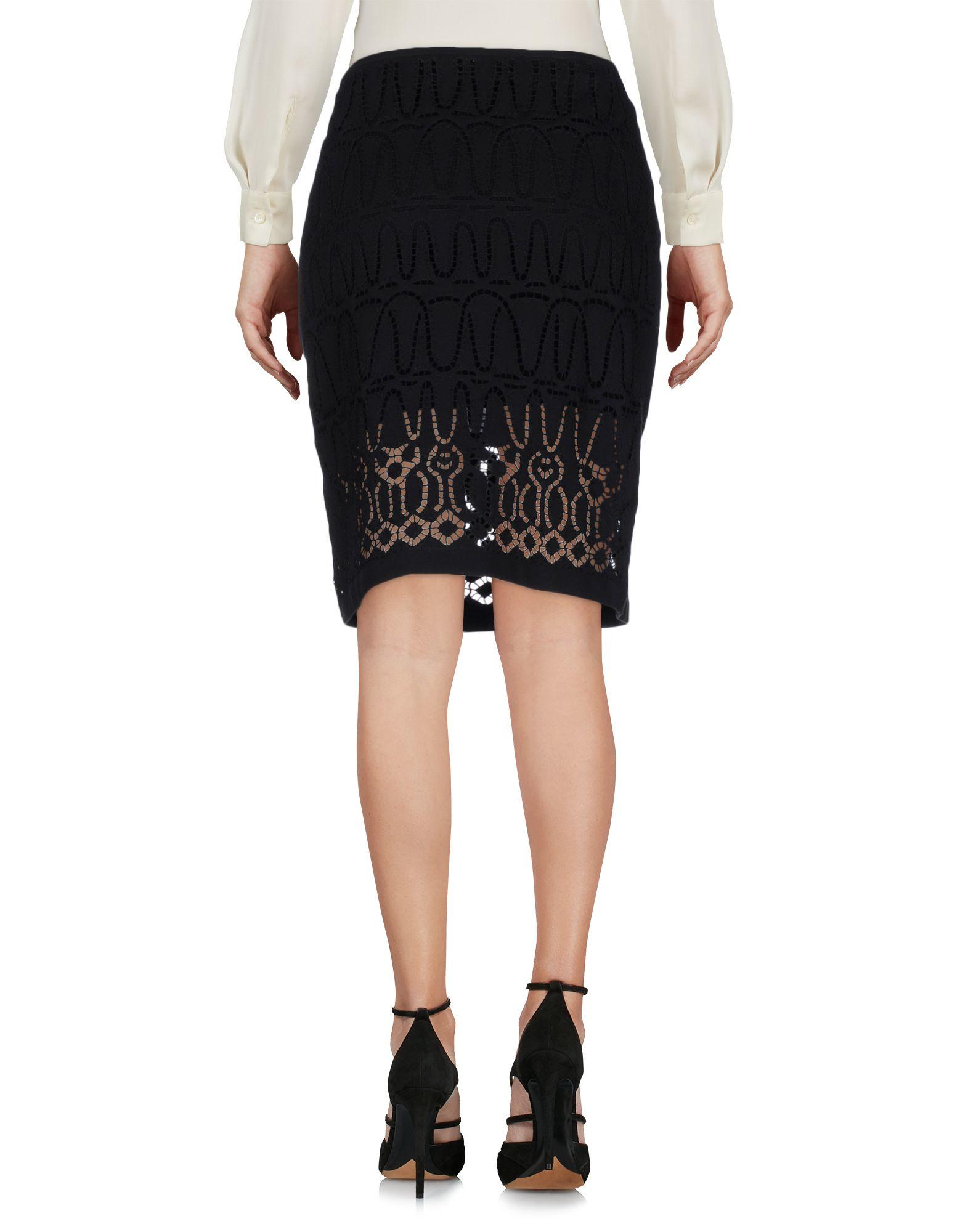 Lyst Donna Karan Knee Length Skirt In Black