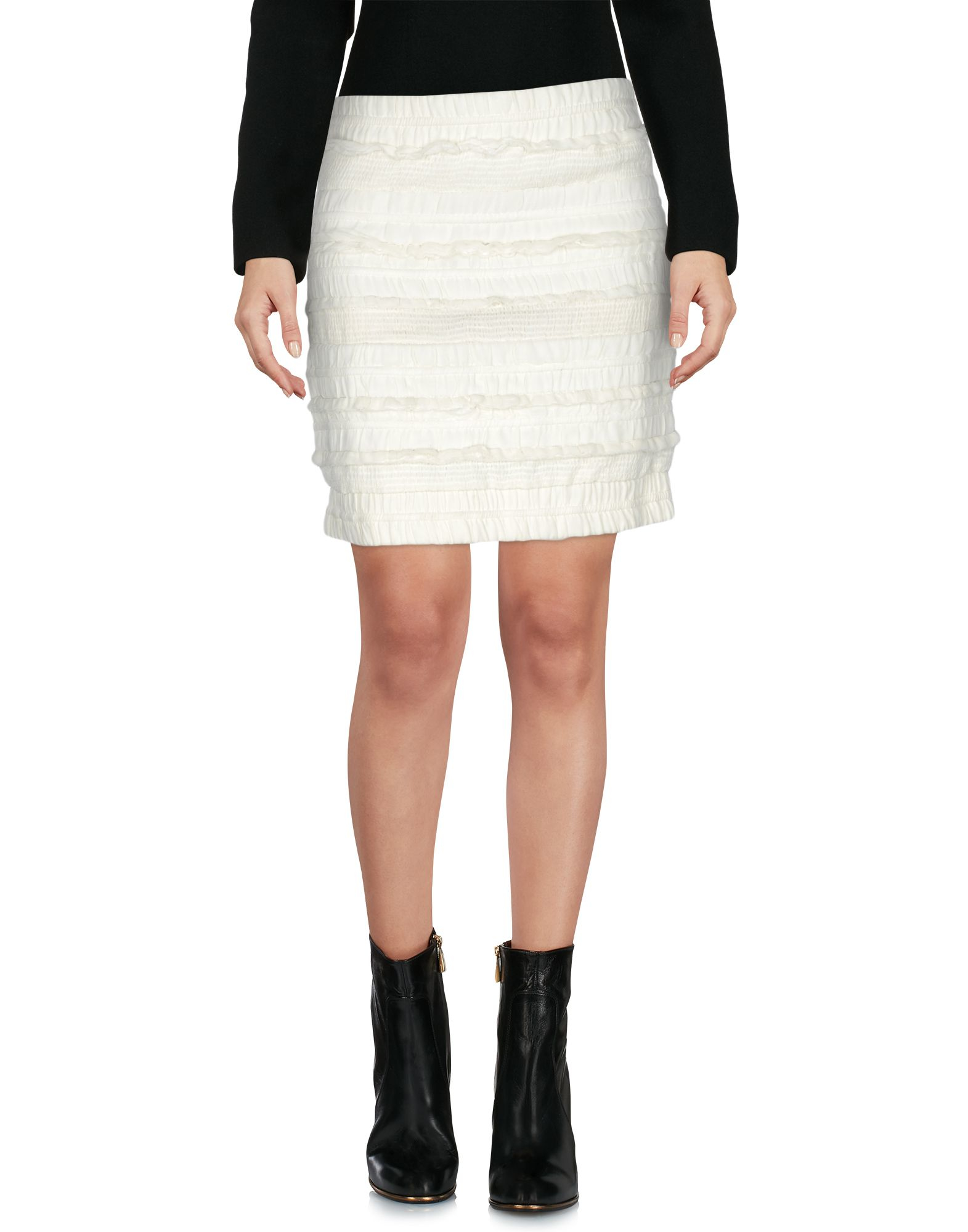 iro mini skirt in white lyst. Black Bedroom Furniture Sets. Home Design Ideas