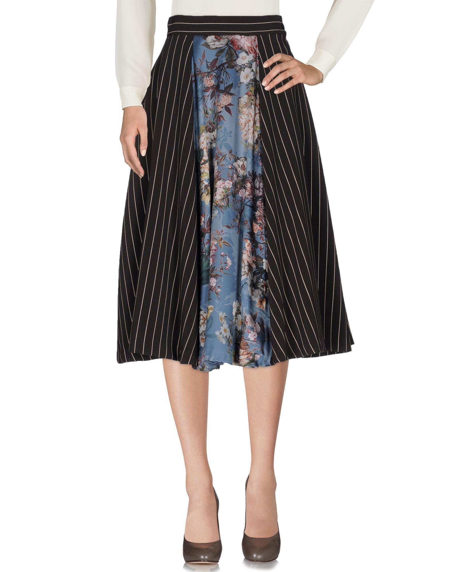 Mariagrazia Panizzi 3 4 Length Skirt In Brown Lyst