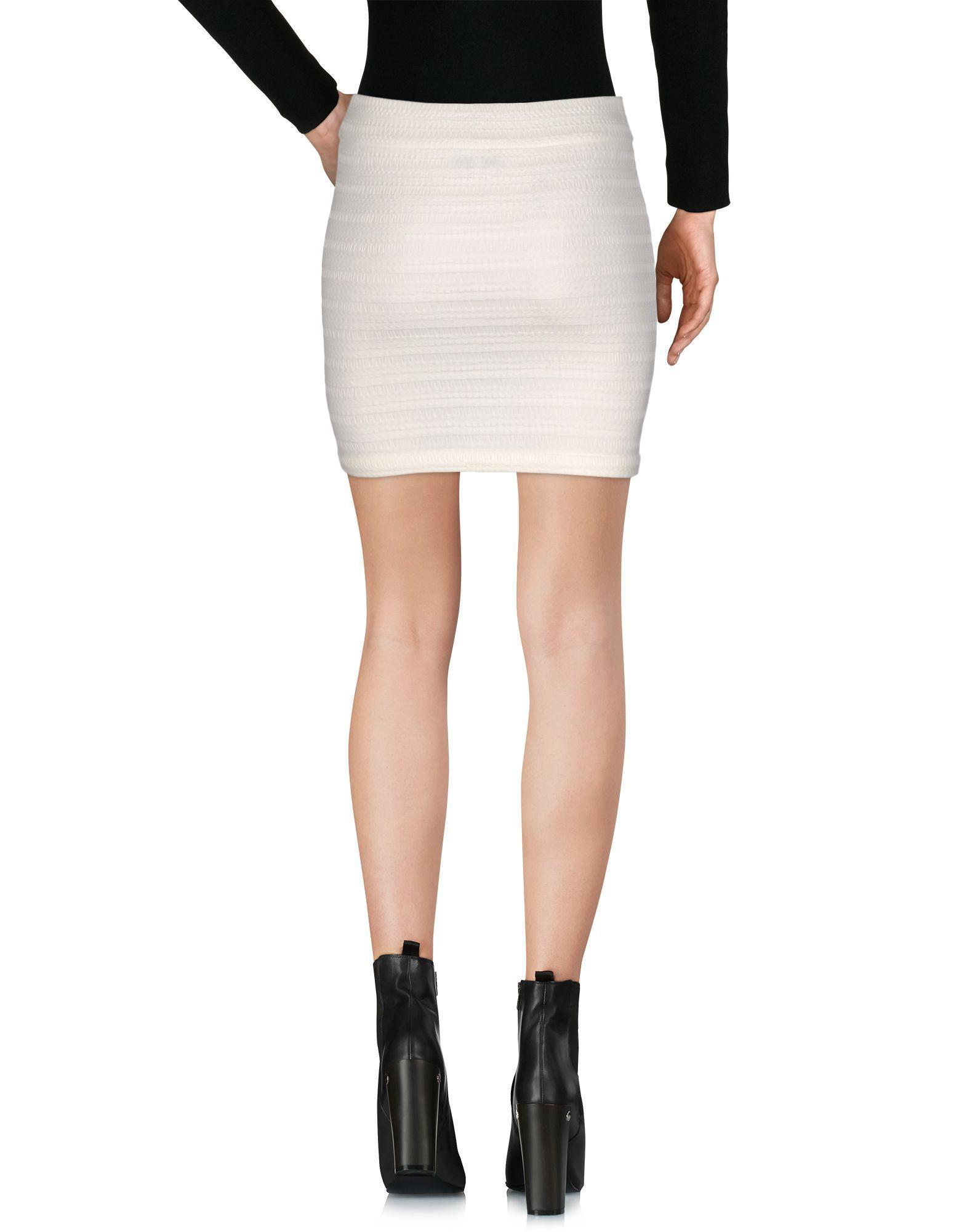 lyst iro mini skirt in white. Black Bedroom Furniture Sets. Home Design Ideas