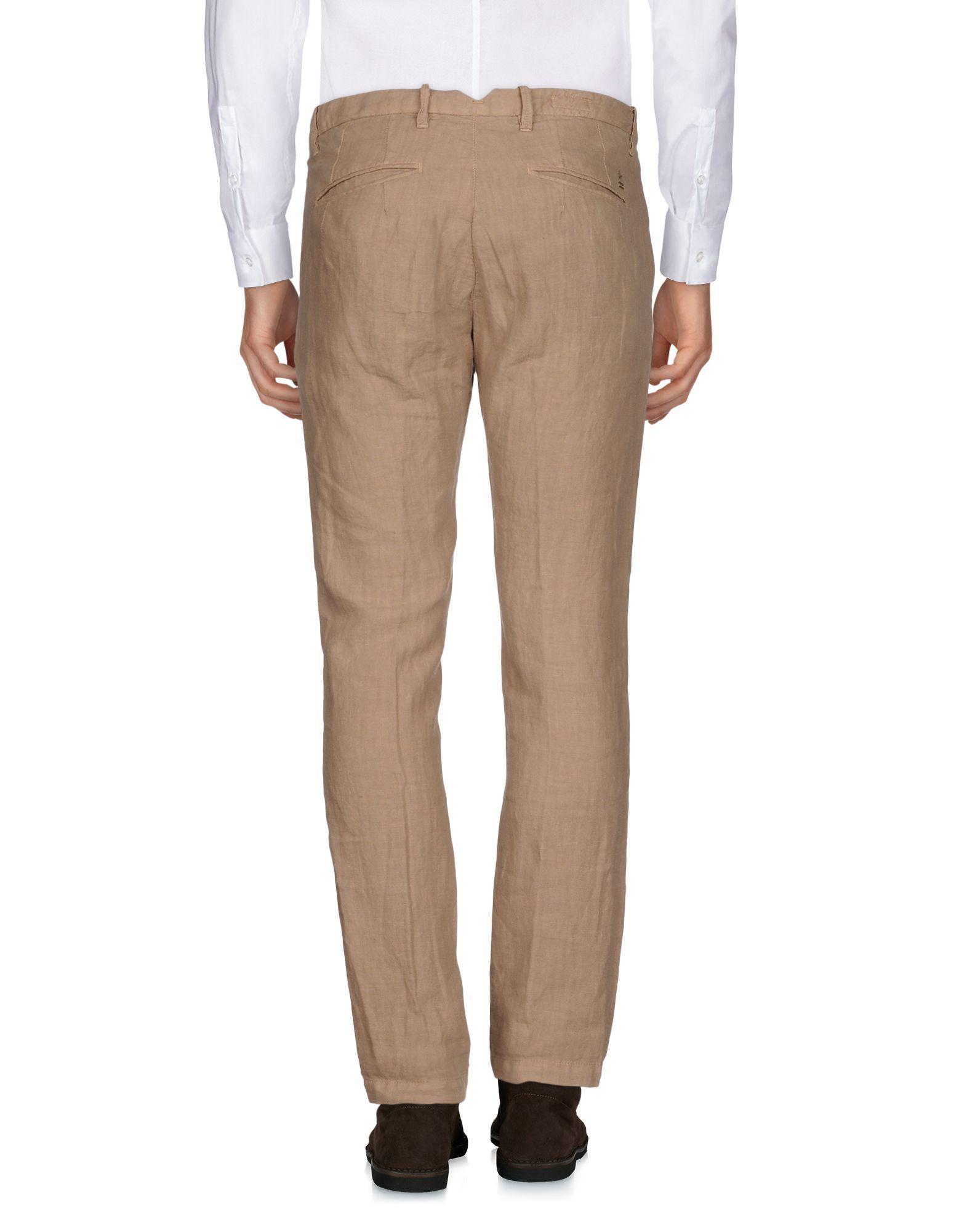 UNIFORM Linen Casual Pants in Sand (Natural) for Men
