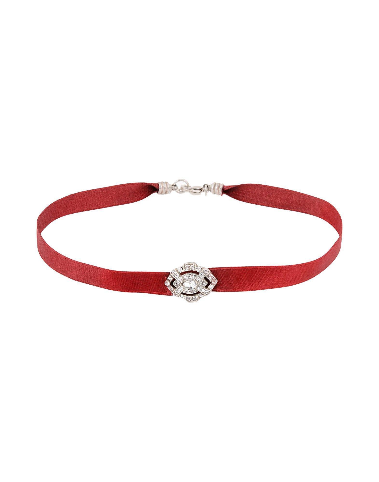 Ben-Amun Satin Necklace in Maroon (Red)