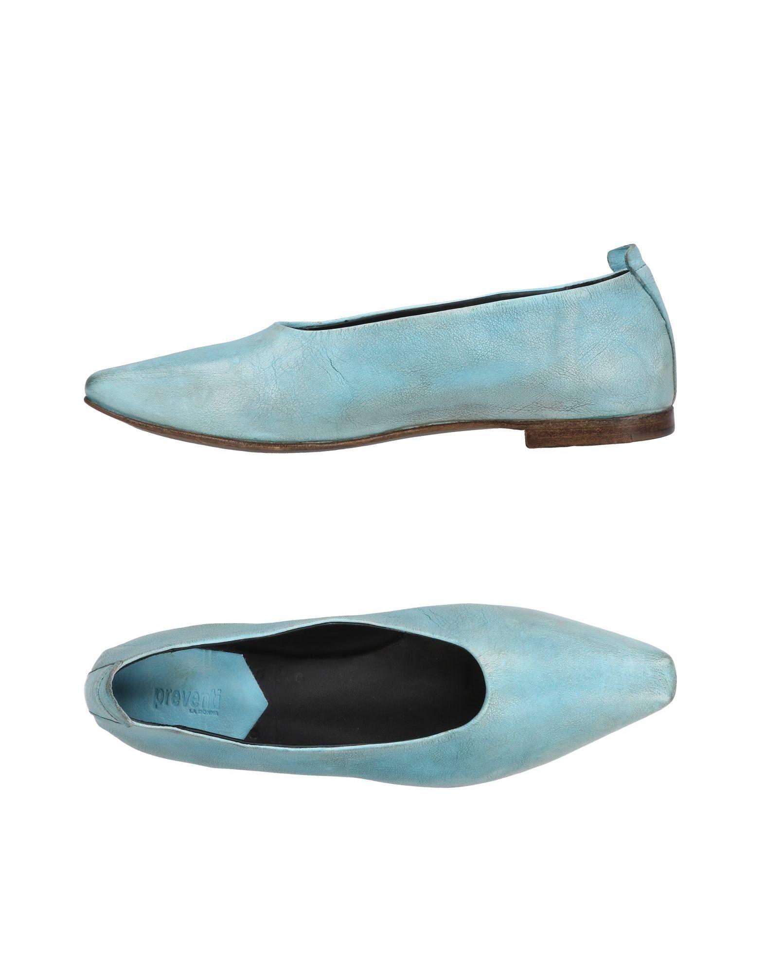 2cf5b491557 Preventi - Blue Ballet Flats - Lyst. View fullscreen