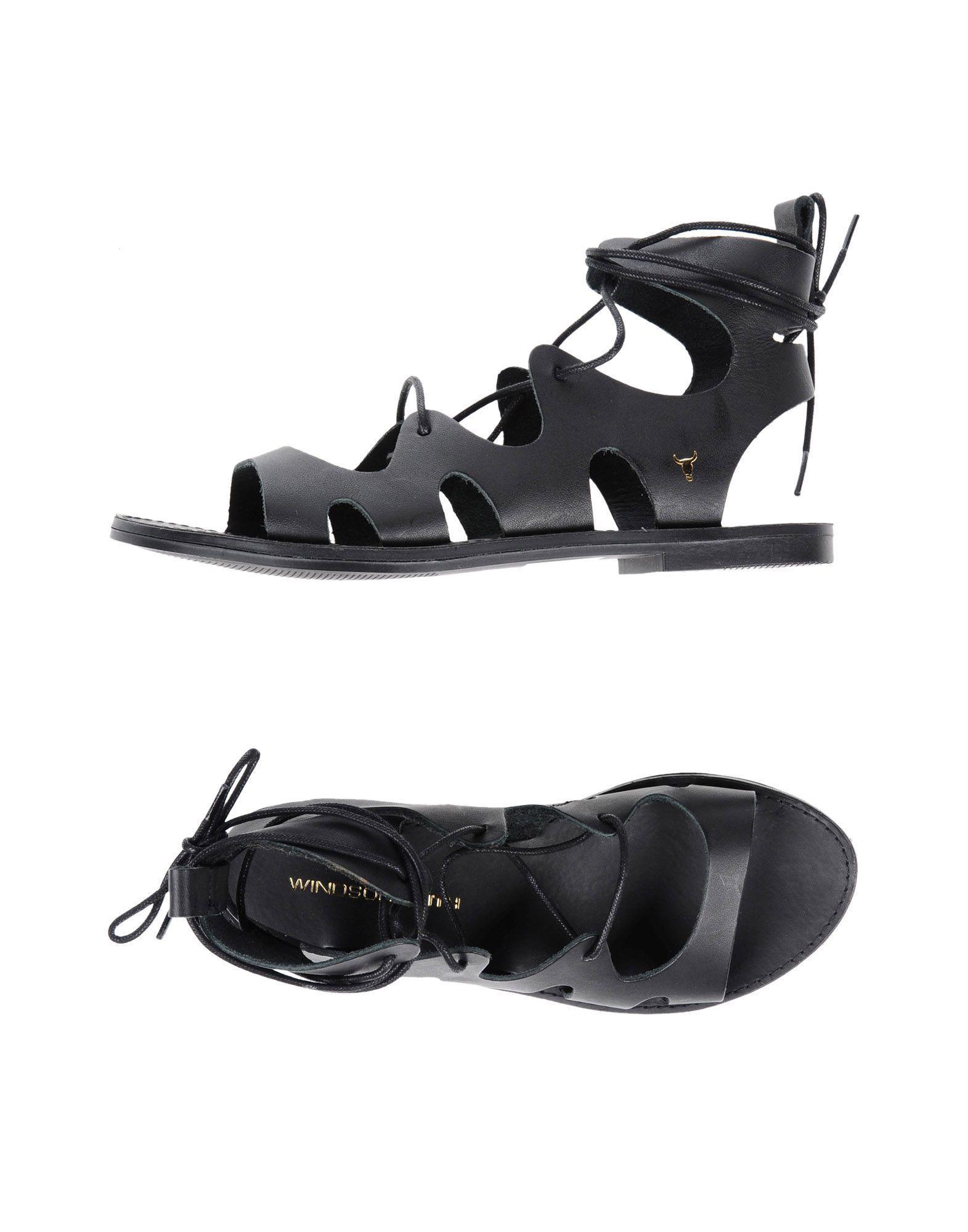 Windsor Smith Sandales Beret Black Noir 4NtgeLrRv