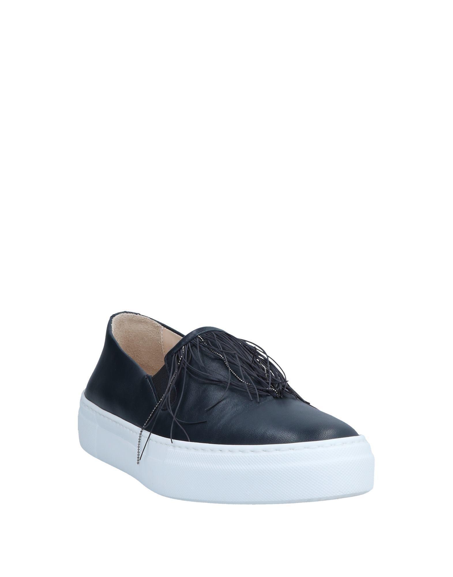 Fabiana Filippi Leather Low-tops & Sneakers in Dark Blue (Blue)