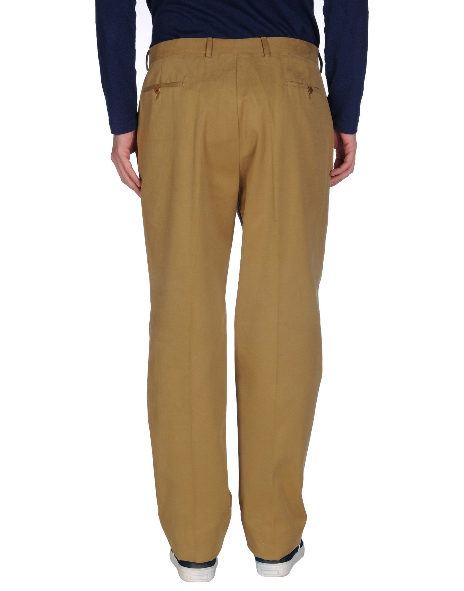 Tagliatore Cotton Casual Pants in Camel (Natural) for Men