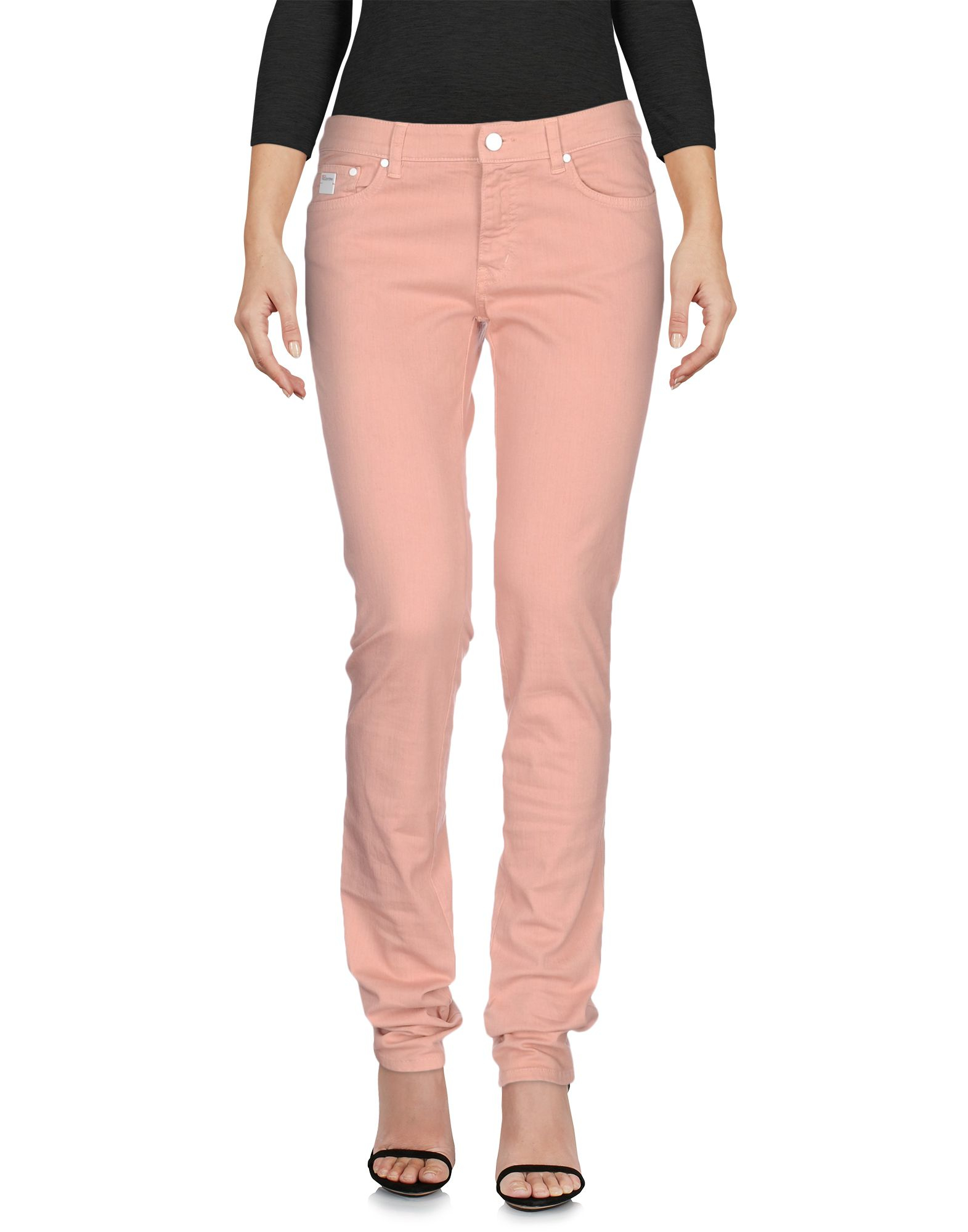 Red valentino Denim Trousers in Pink | Lyst