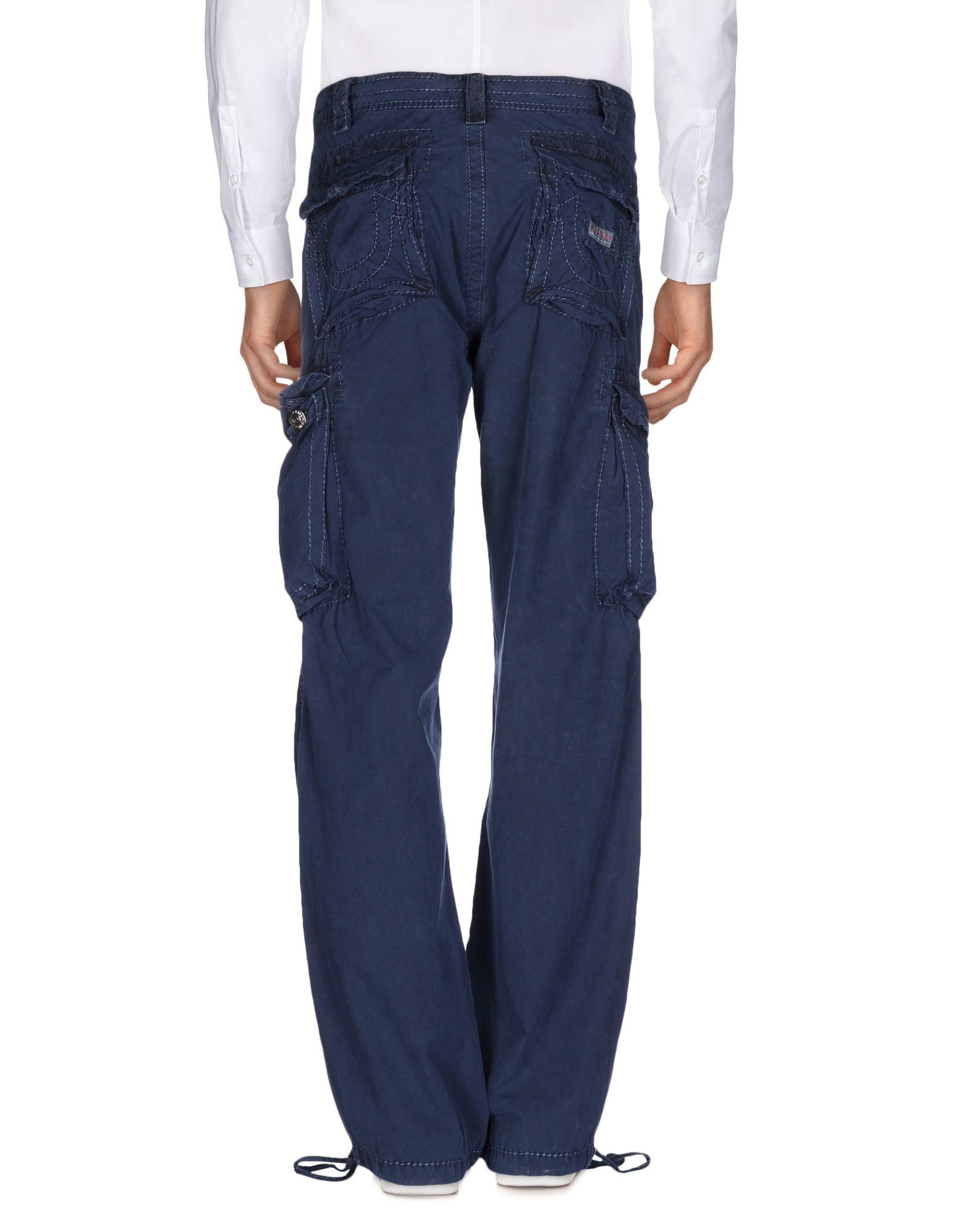 True Religion Cotton Casual Pants in Slate Blue (Blue) for Men
