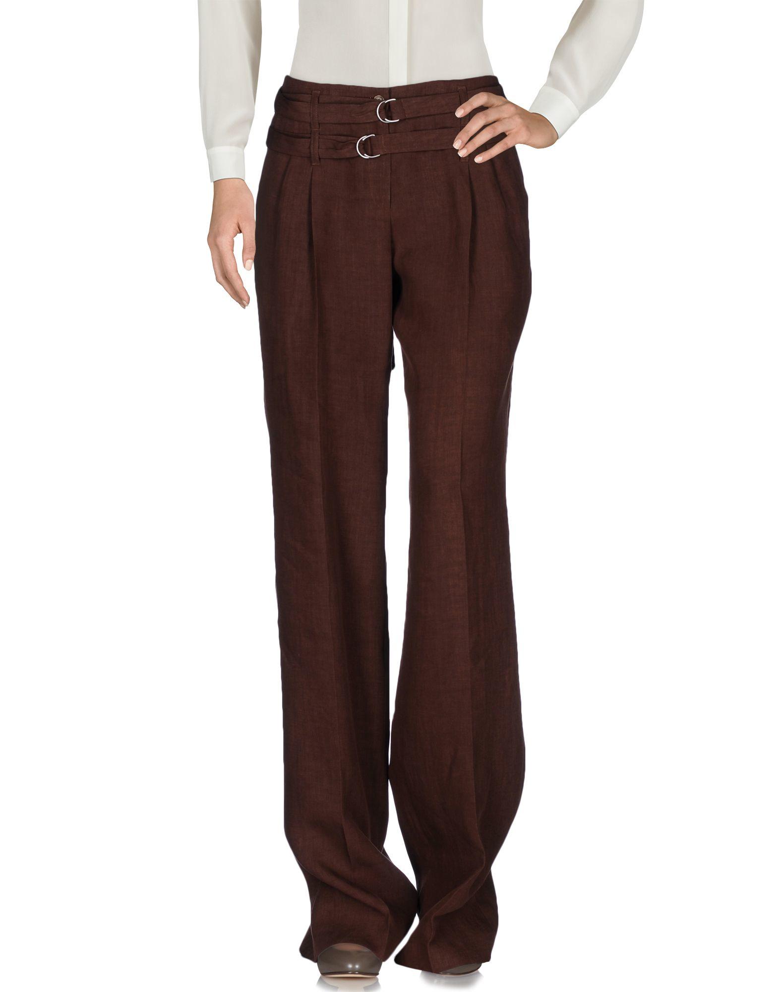 michael kors casual trouser in blue brown lyst