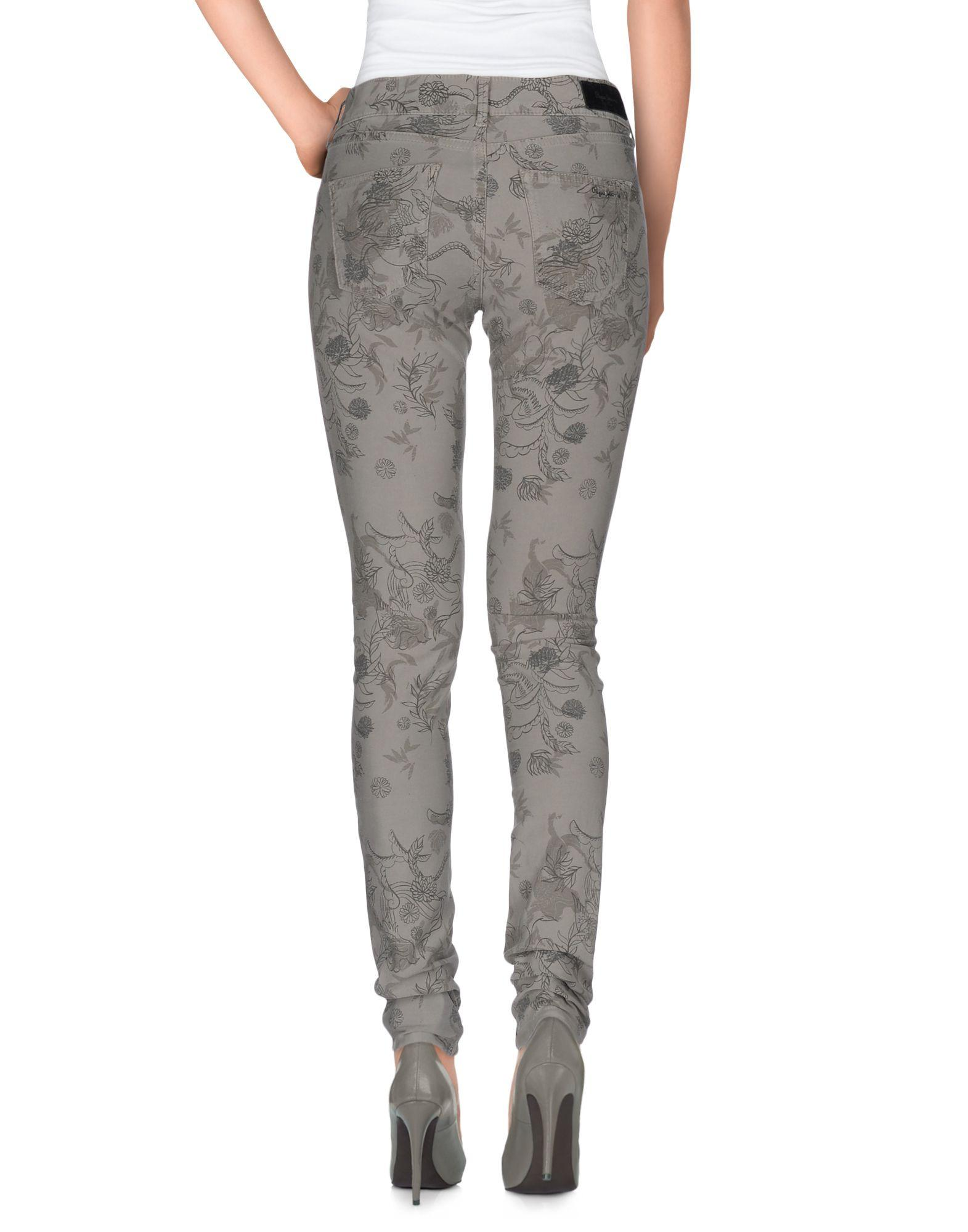 Pepe Jeans Leather Casual Trouser in Grey (Grey)
